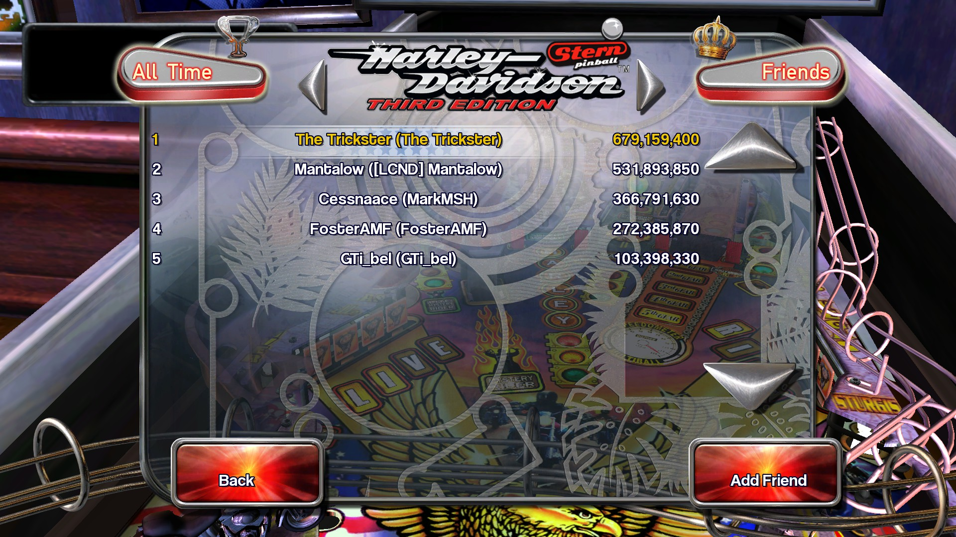 TheTrickster: Pinball Arcade: Harley-Davidson (PC) 679,159,400 points on 2015-12-03 03:37:32