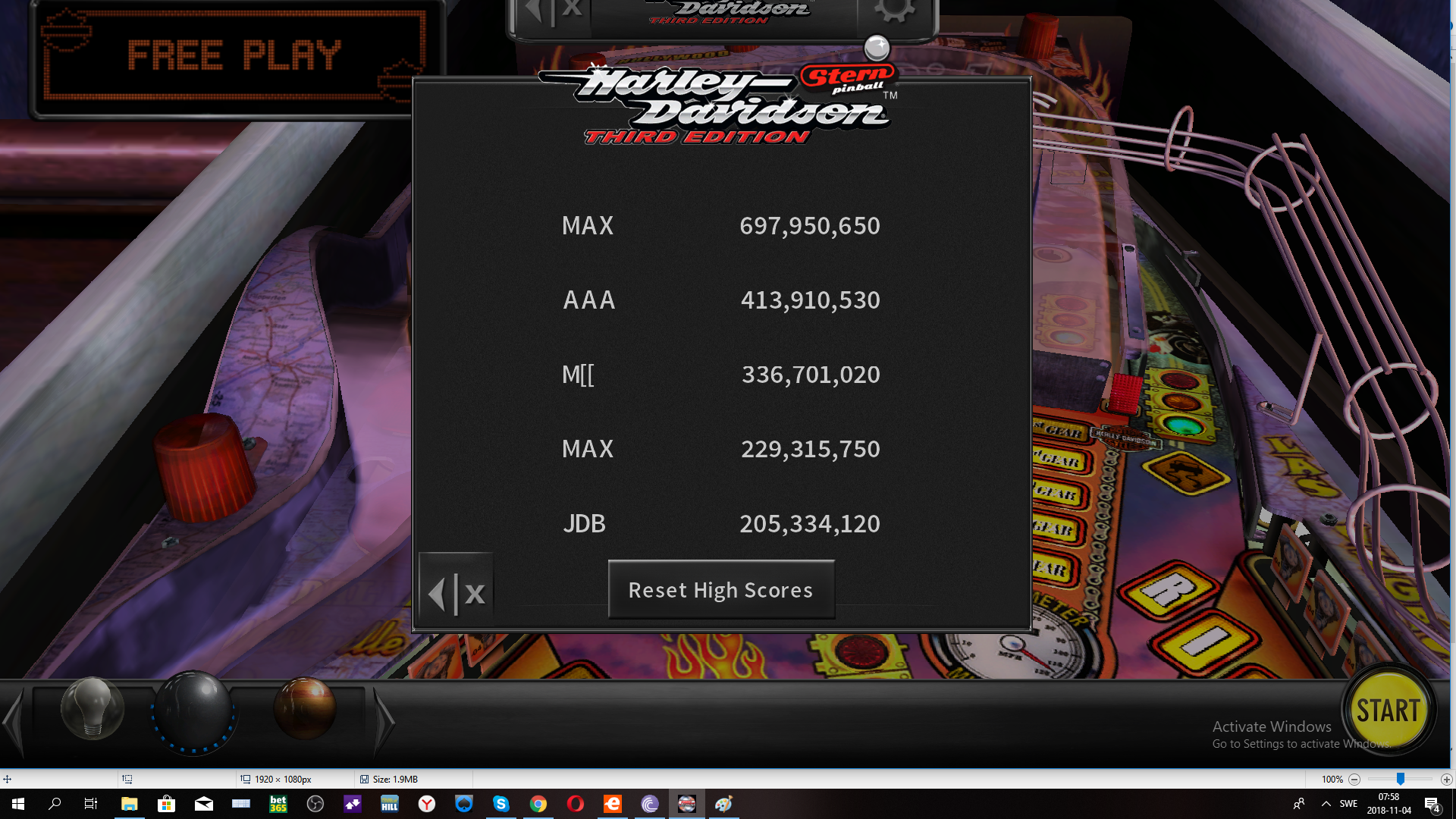maxgreat: Pinball Arcade: Harley-Davidson (PC) 697,950,650 points on 2018-11-04 01:59:17