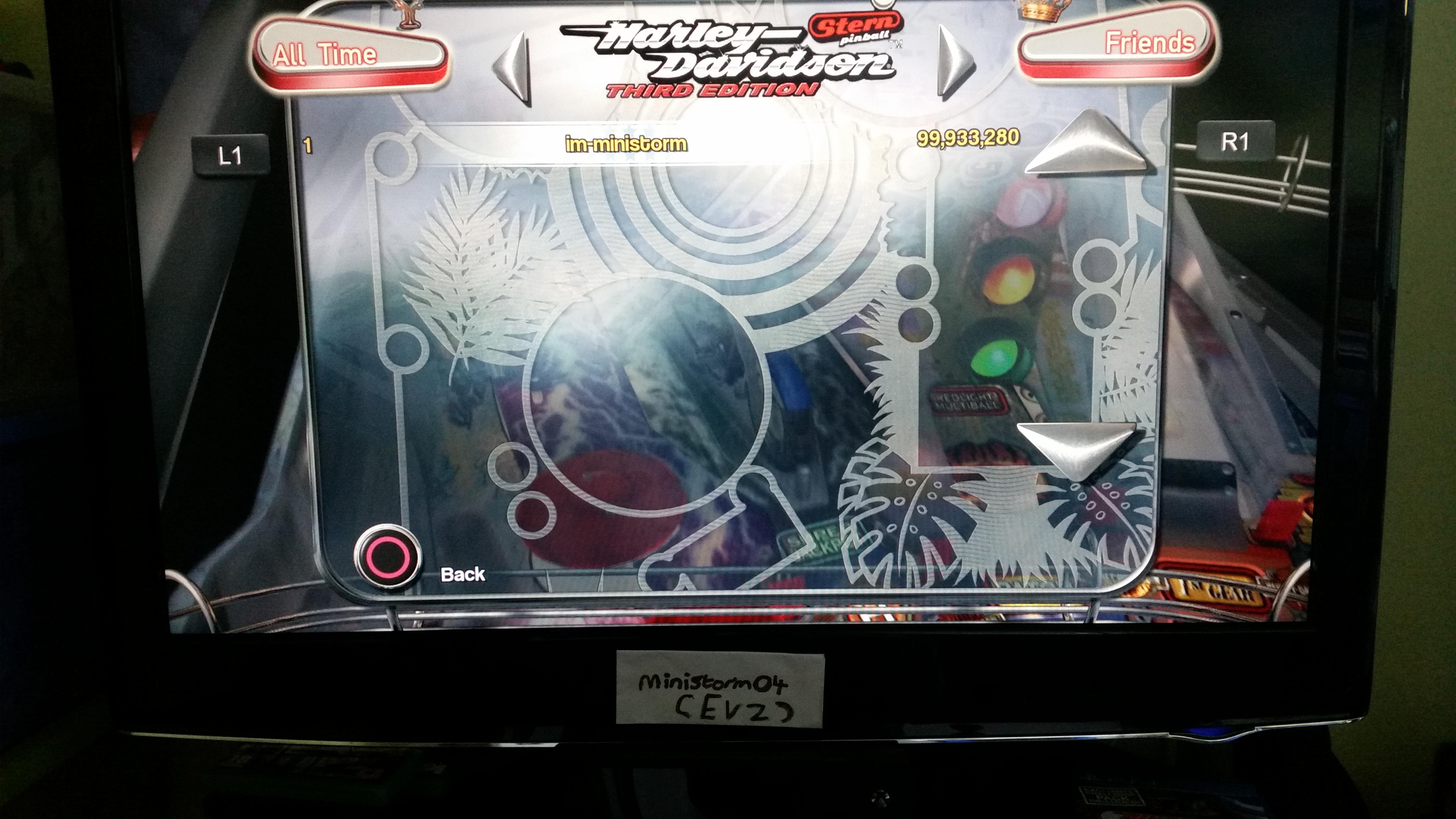Pinball Arcade: Harley-Davidson 99,933,280 points
