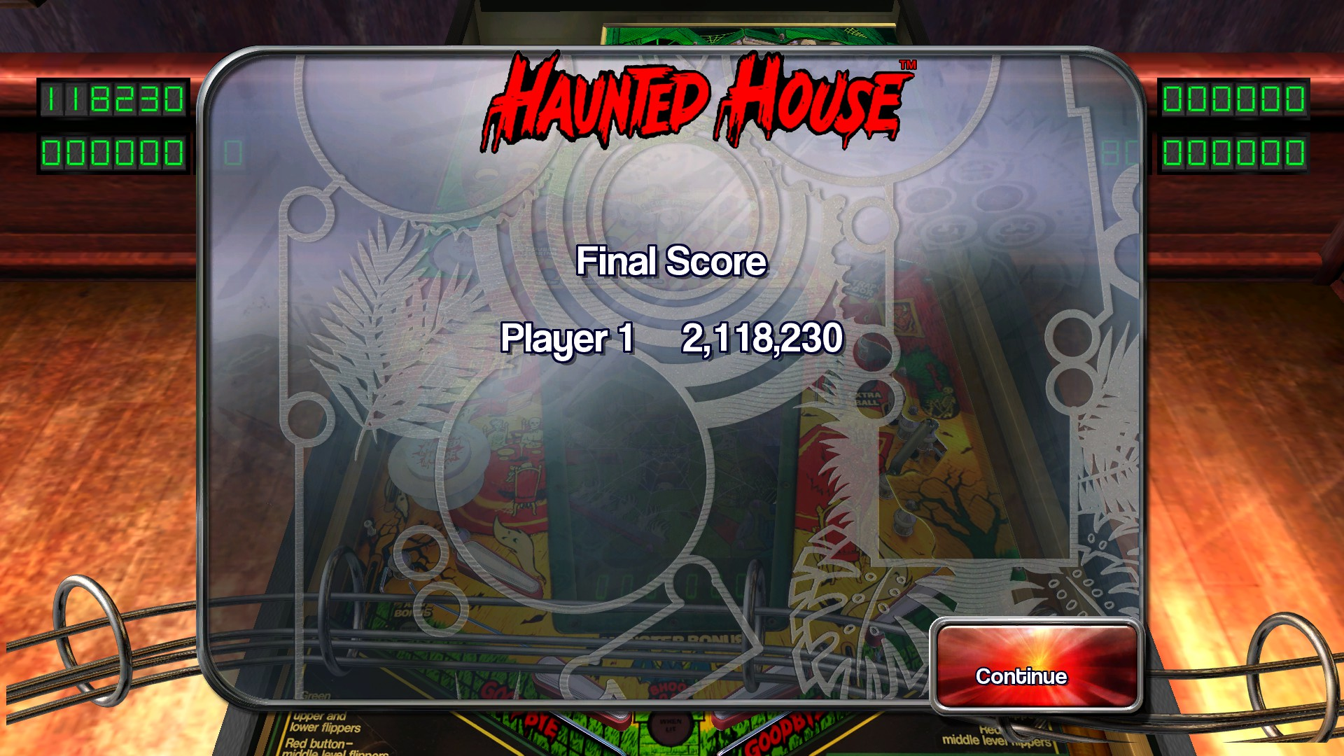TheTrickster: Pinball Arcade: Haunted House (PC) 2,118,230 points on 2016-02-17 06:21:24
