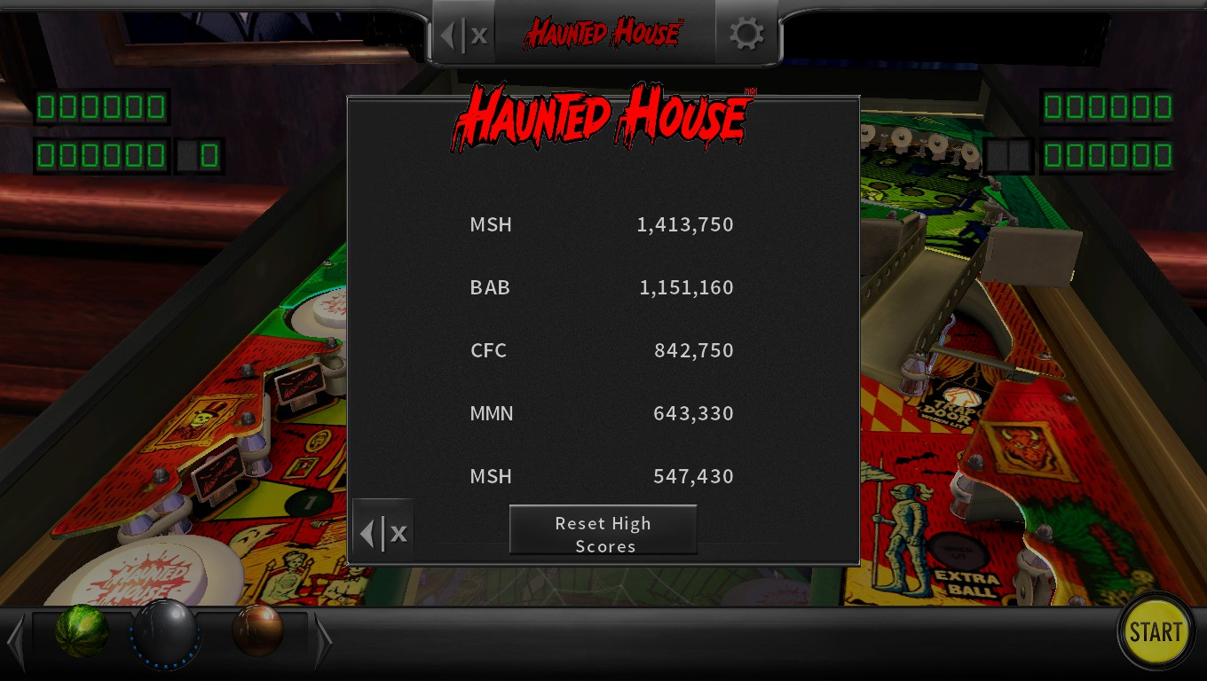Mark: Pinball Arcade: Haunted House (PC) 1,413,750 points on 2018-05-13 02:01:52