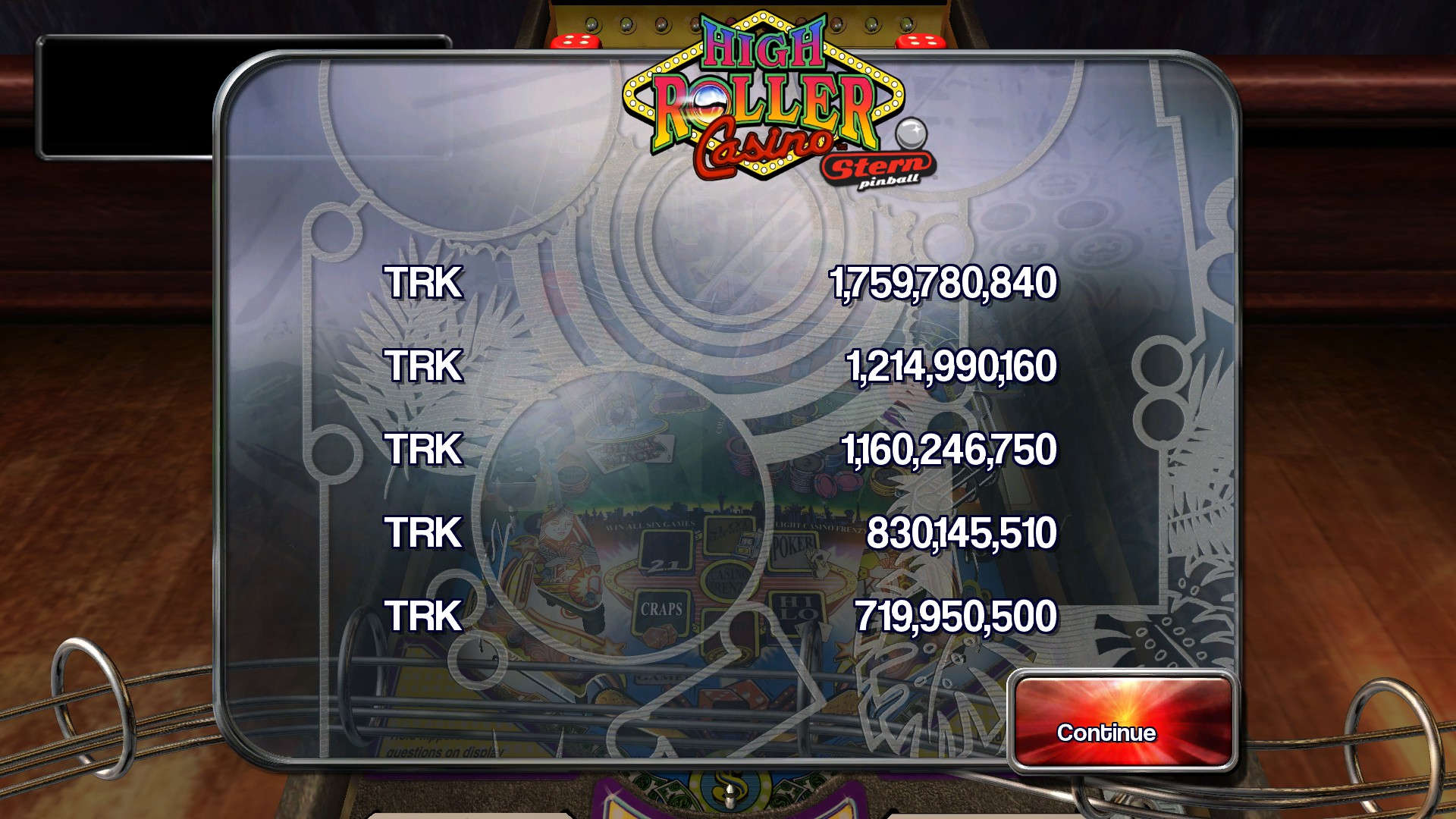 TheTrickster: Pinball Arcade: High Roller Casino (PC) 1,759,780,840 points on 2016-05-11 10:10:18