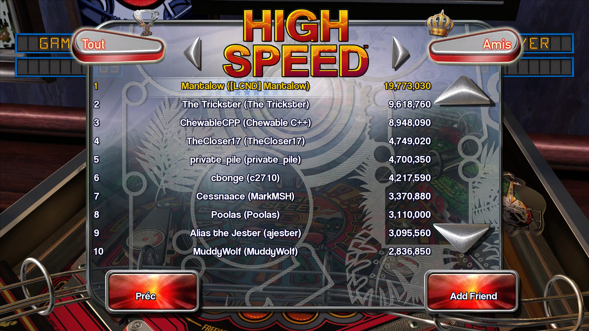 Mantalow: Pinball Arcade: High Speed (PC) 19,773,030 points on 2016-02-23 11:59:03