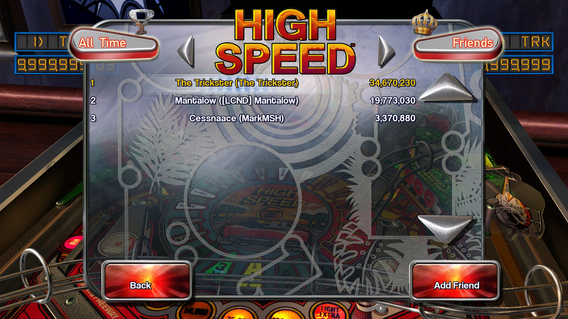 TheTrickster: Pinball Arcade: High Speed (PC) 34,670,230 points on 2016-02-25 06:22:31