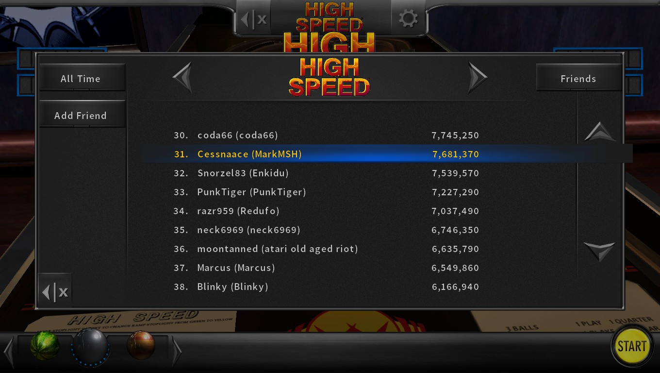 Mark: Pinball Arcade: High Speed (PC) 7,681,370 points on 2018-05-13 02:09:03