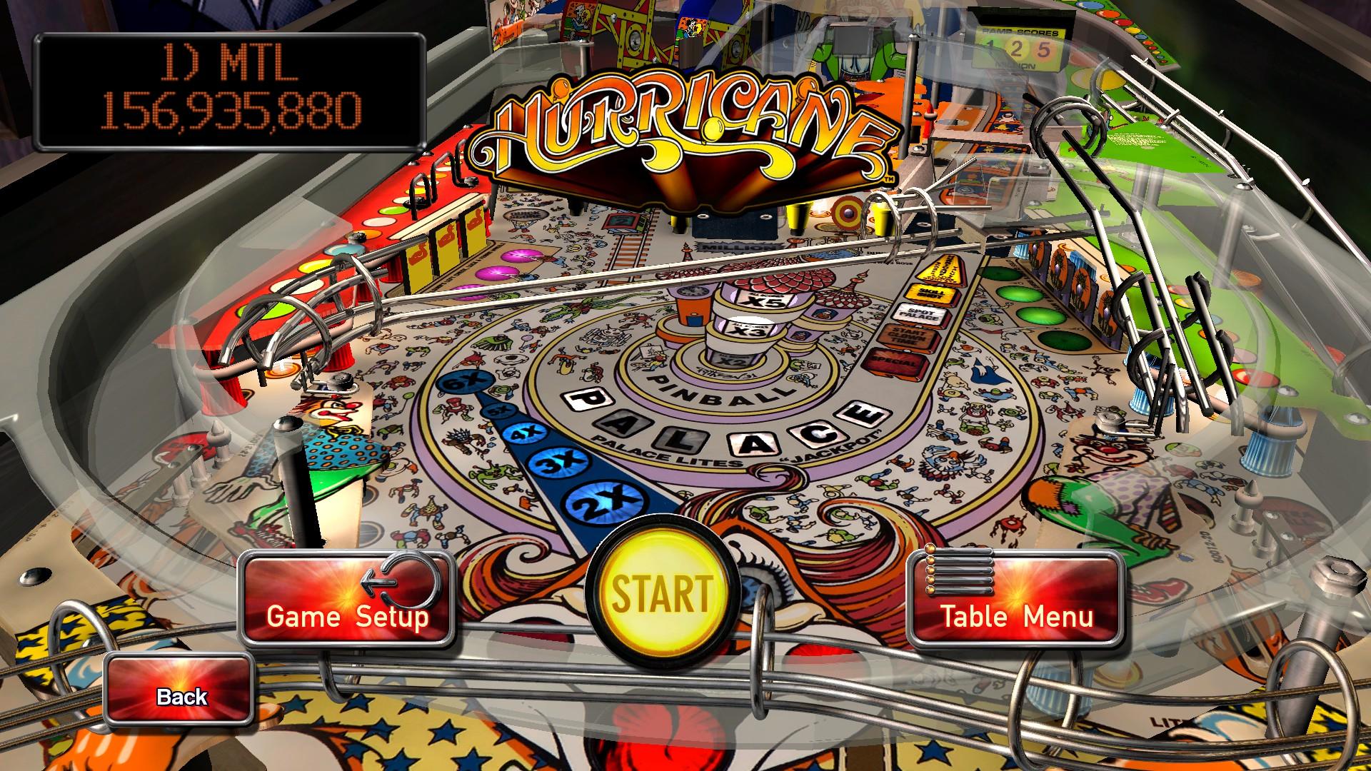 Mantalow: Pinball Arcade: Hurricane (PC) 156,935,880 points on 2016-04-20 11:24:53