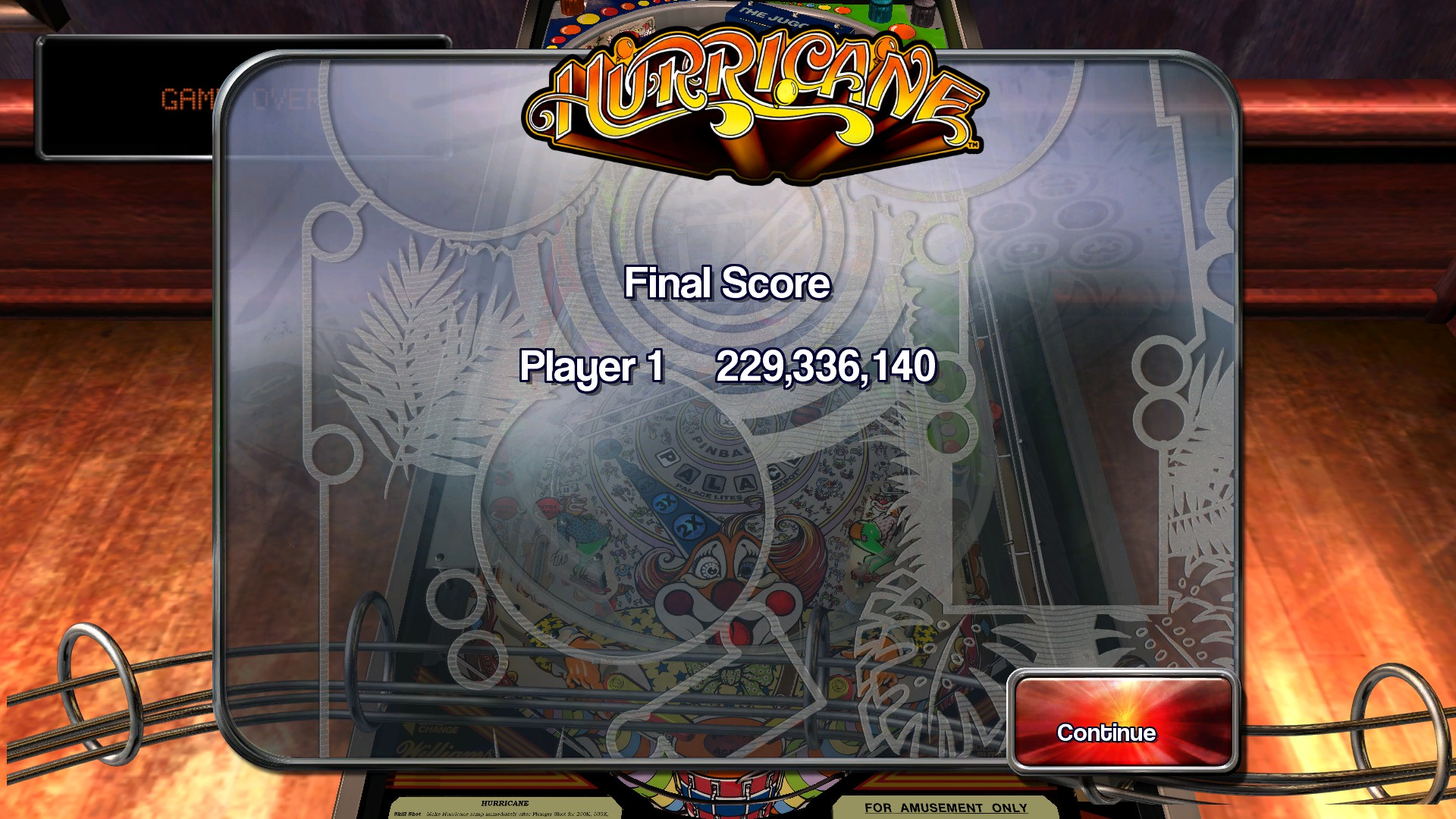 TheTrickster: Pinball Arcade: Hurricane (PC) 229,336,140 points on 2016-04-21 08:44:08