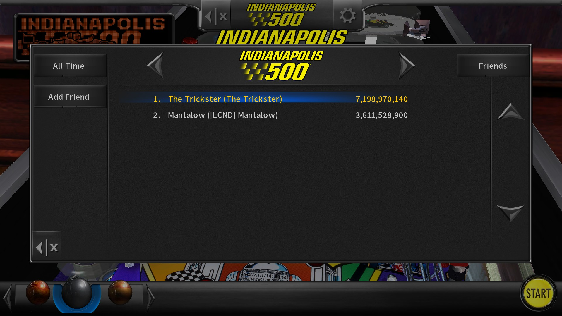 TheTrickster: Pinball Arcade: Indianapolis 500 (PC) 7,198,970,140 points on 2016-07-02 17:18:36