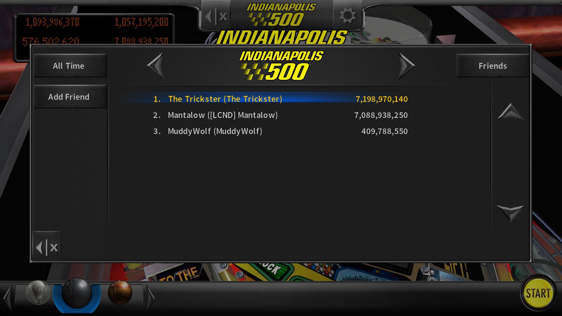 Mantalow: Pinball Arcade: Indianapolis 500 (PC) 7,088,938,250 points on 2016-08-01 06:05:57