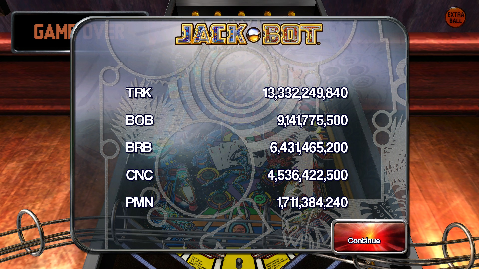 TheTrickster: Pinball Arcade: Jack*Bot (PC) 13,332,249,840 points on 2015-11-22 06:49:20