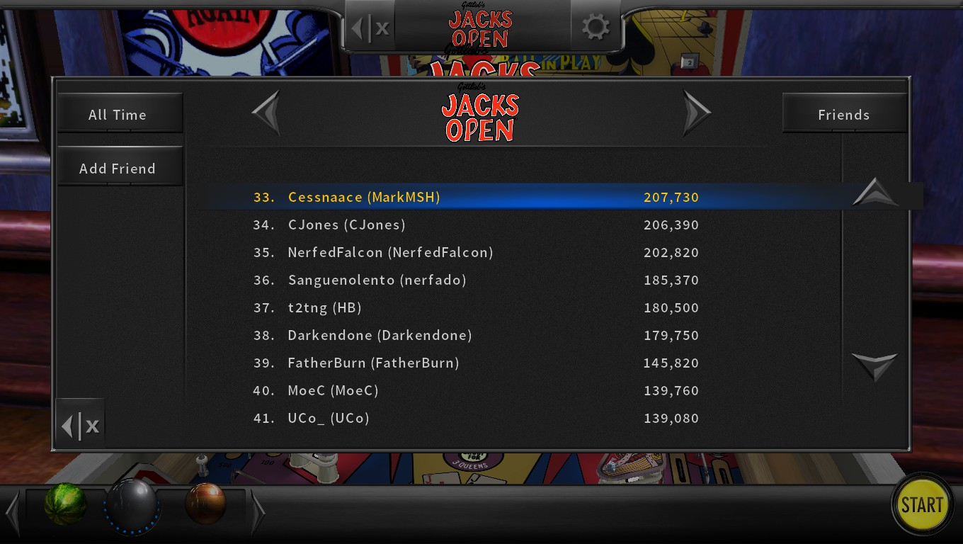Mark: Pinball Arcade: Jacks Open (PC) 207,730 points on 2018-05-14 00:04:36