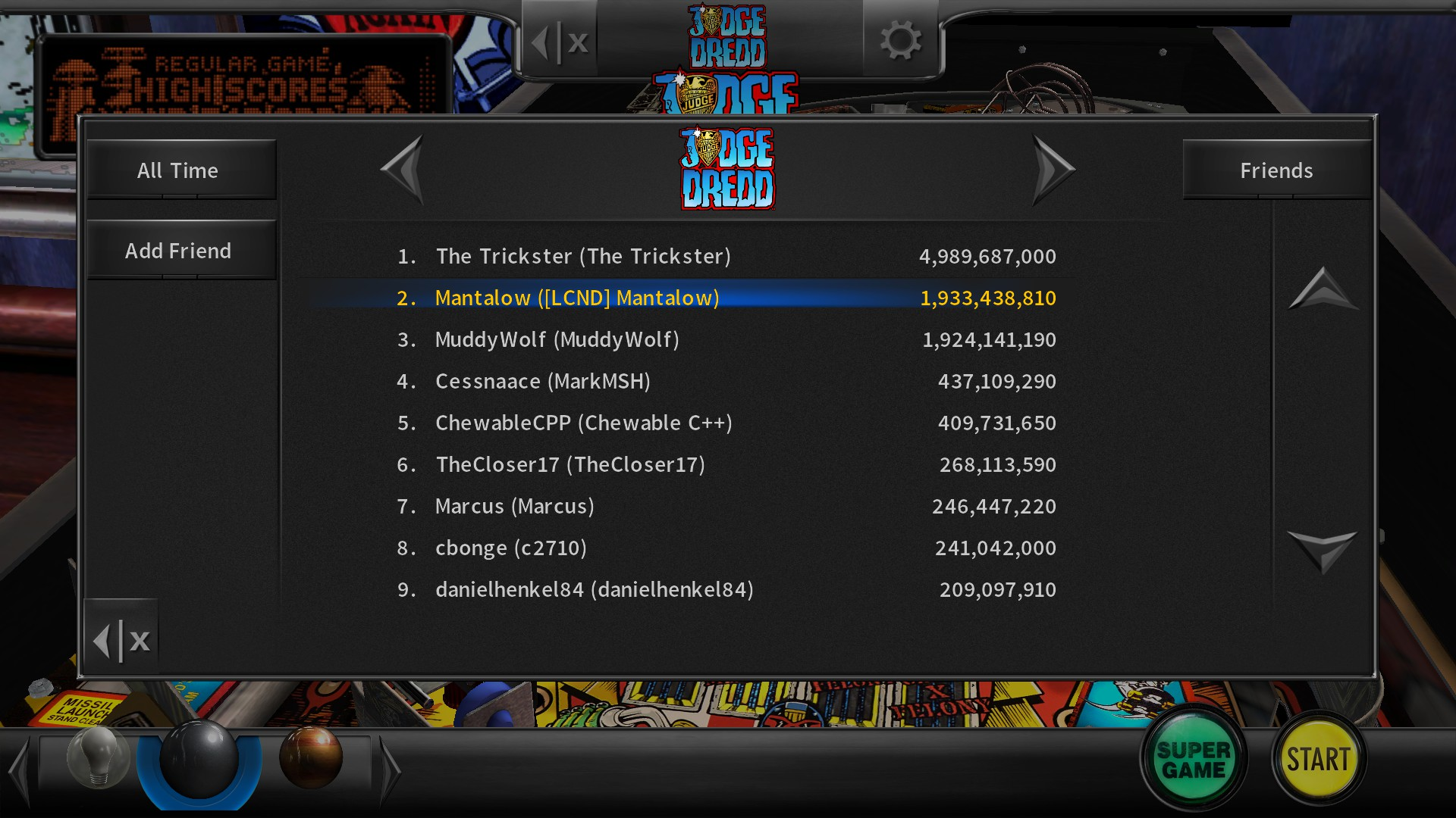 Pinball Arcade: Judge Dredd™ 1,933,438,810 points