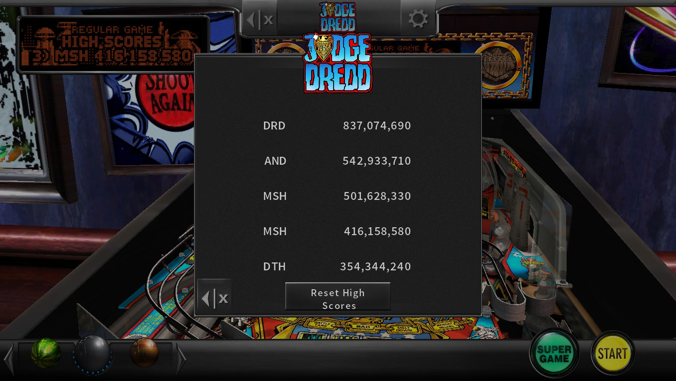 Pinball Arcade: Judge Dredd™ 501,628,330 points