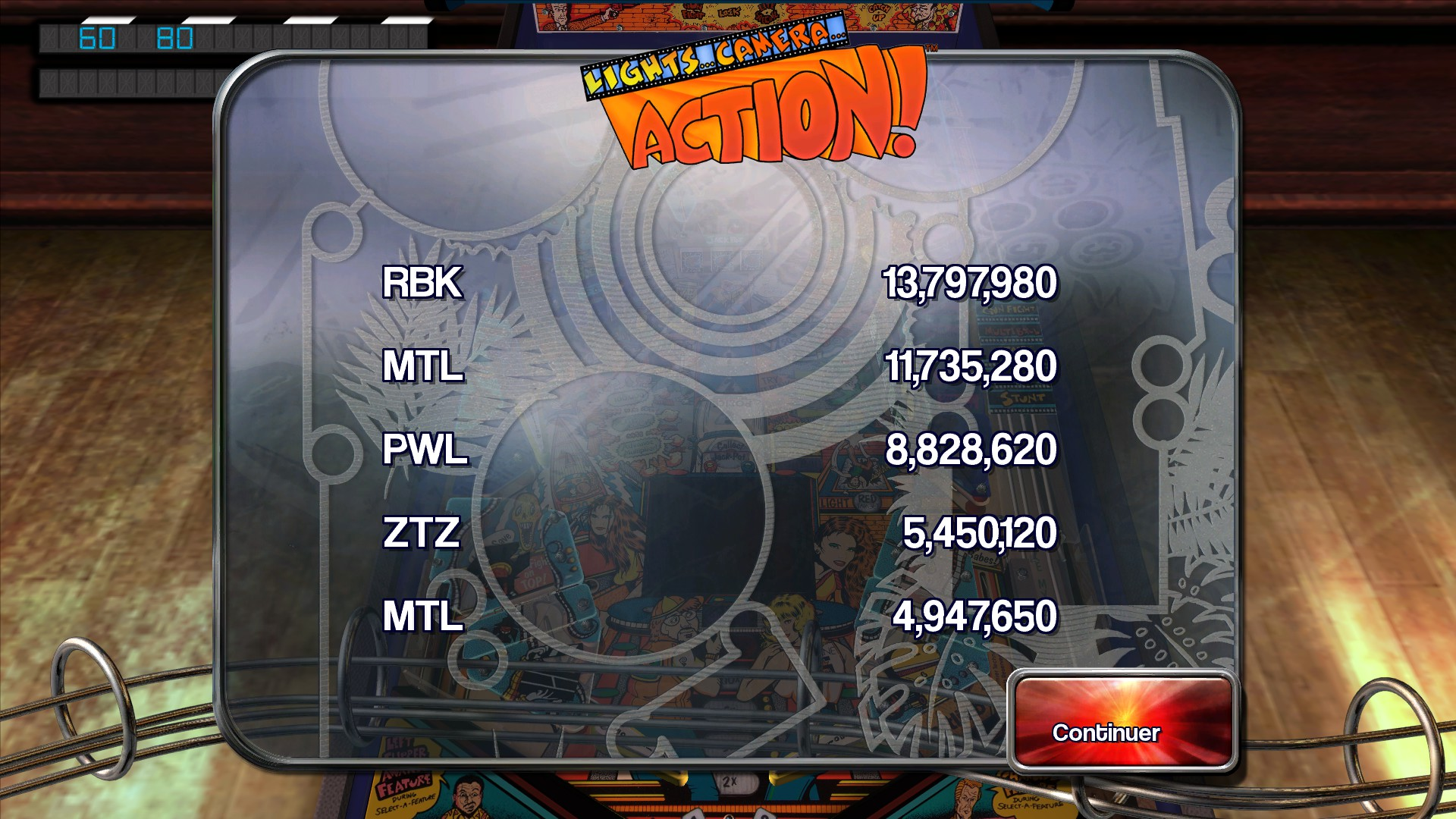 Mantalow: Pinball Arcade: Lights...Camera...Action! (PC) 11,735,280 points on 2015-10-04 12:34:05