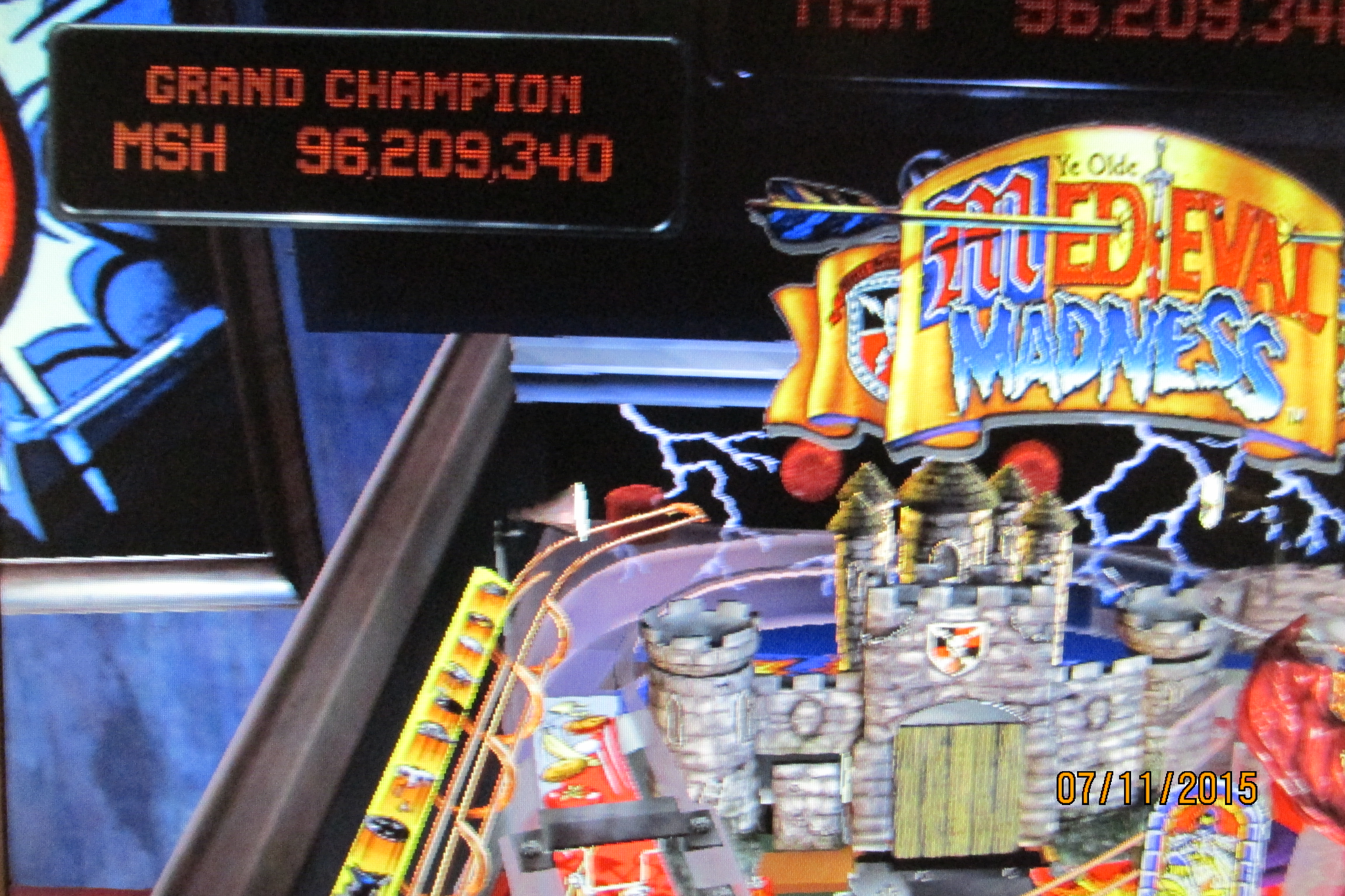 Mark: Pinball Arcade: Medieval Madness (PC) 96,209,340 points on 2015-07-14 00:47:34