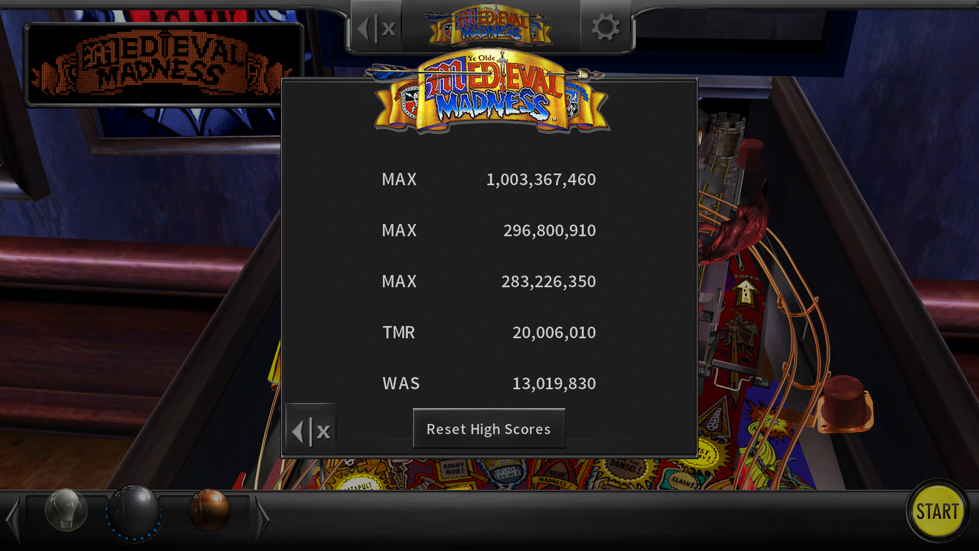 maxgreat: Pinball Arcade: Medieval Madness (PC) 1,003,367,460 points on 2018-03-01 04:27:49