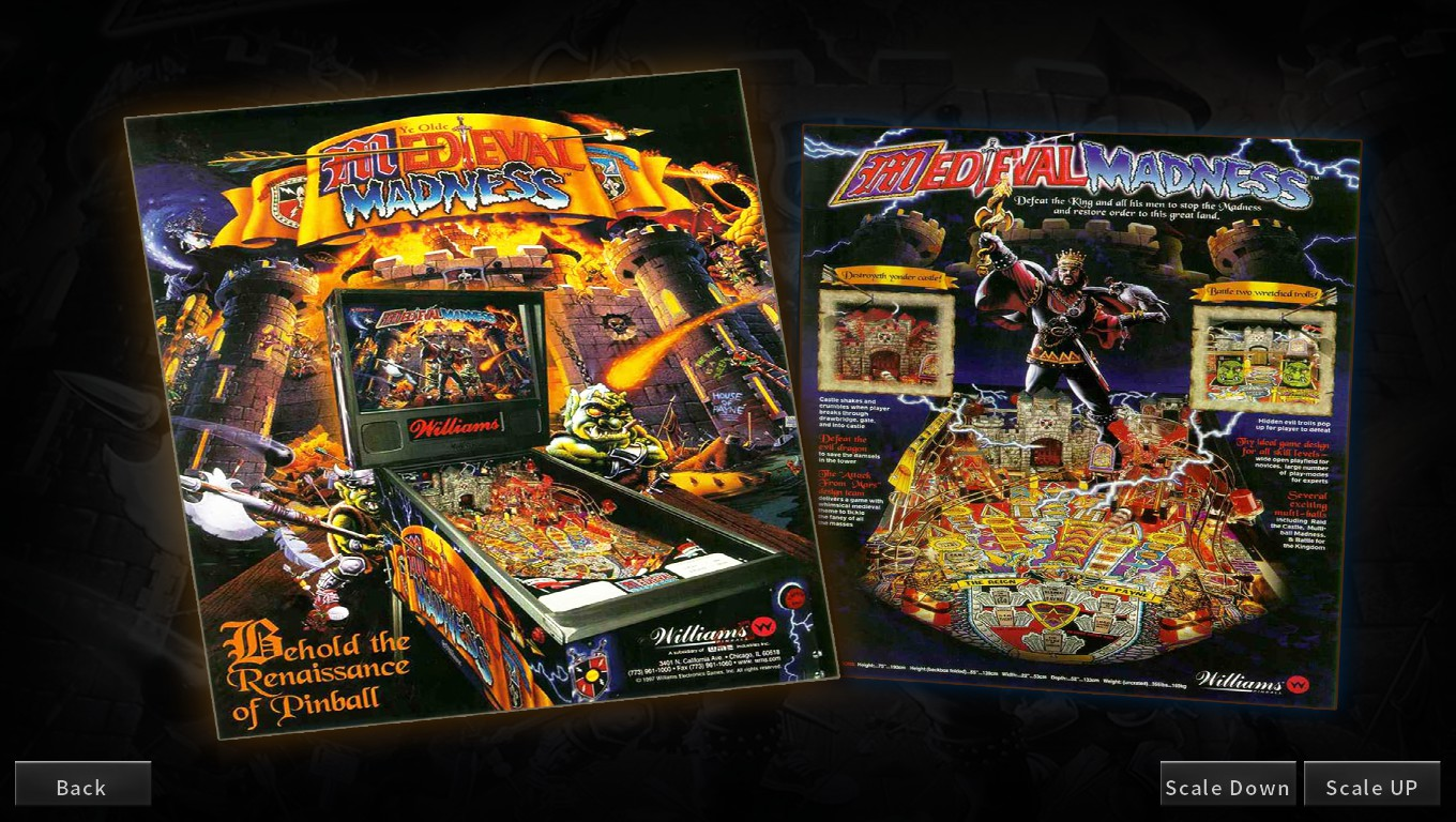 Mark: Pinball Arcade: Medieval Madness (PC) 141,640,310 points on 2018-05-14 00:34:05