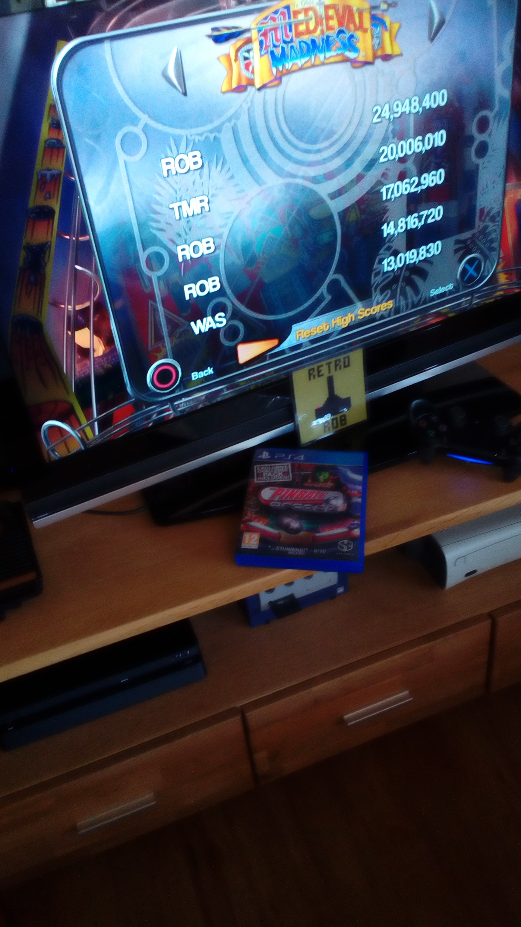 RetroRob: Pinball Arcade: Medieval Madness (Playstation 4) 24,948,400 points on 2020-04-05 06:54:47