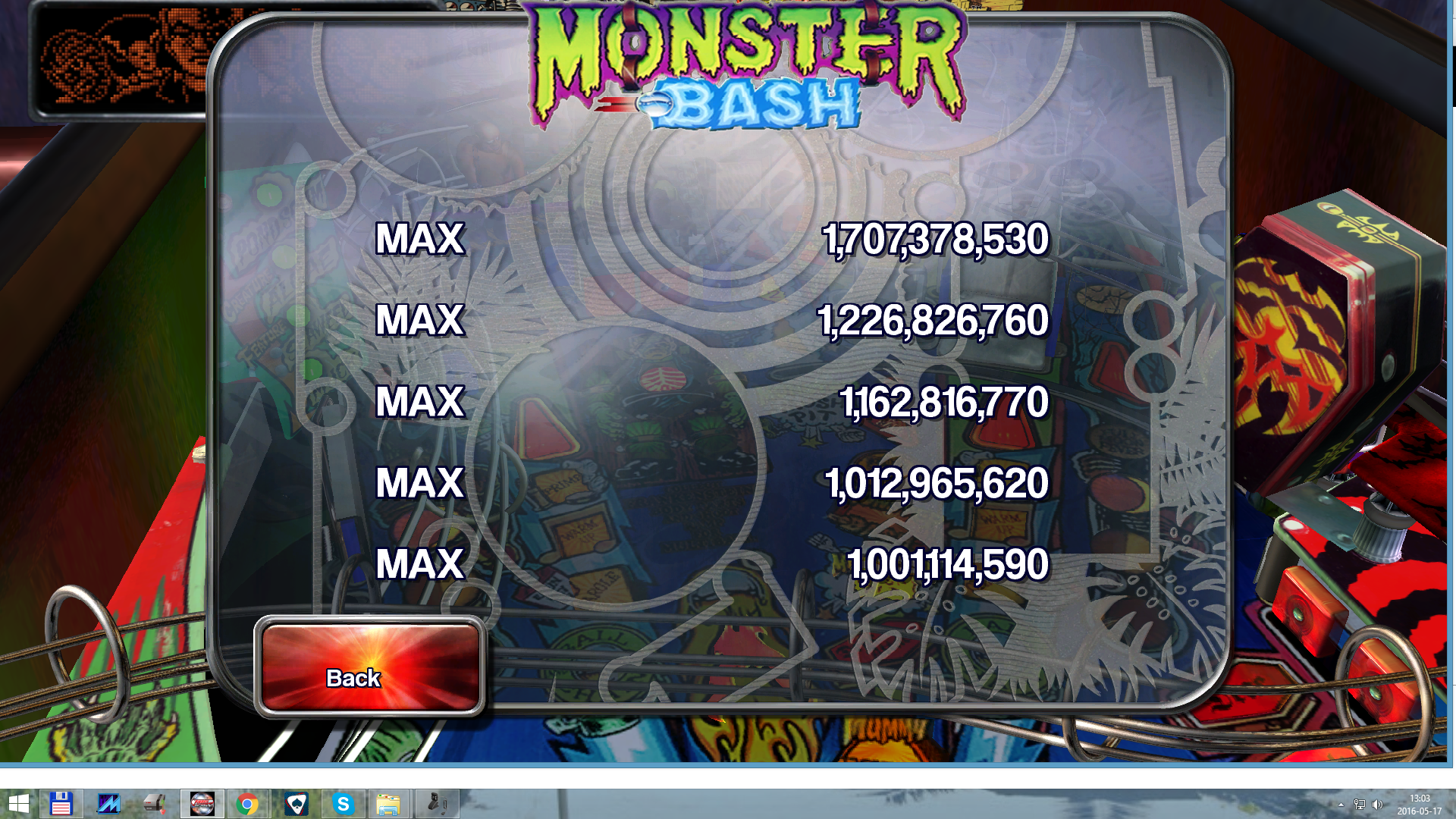 Pinball Arcade: Monster Bash 1,707,378,530 points