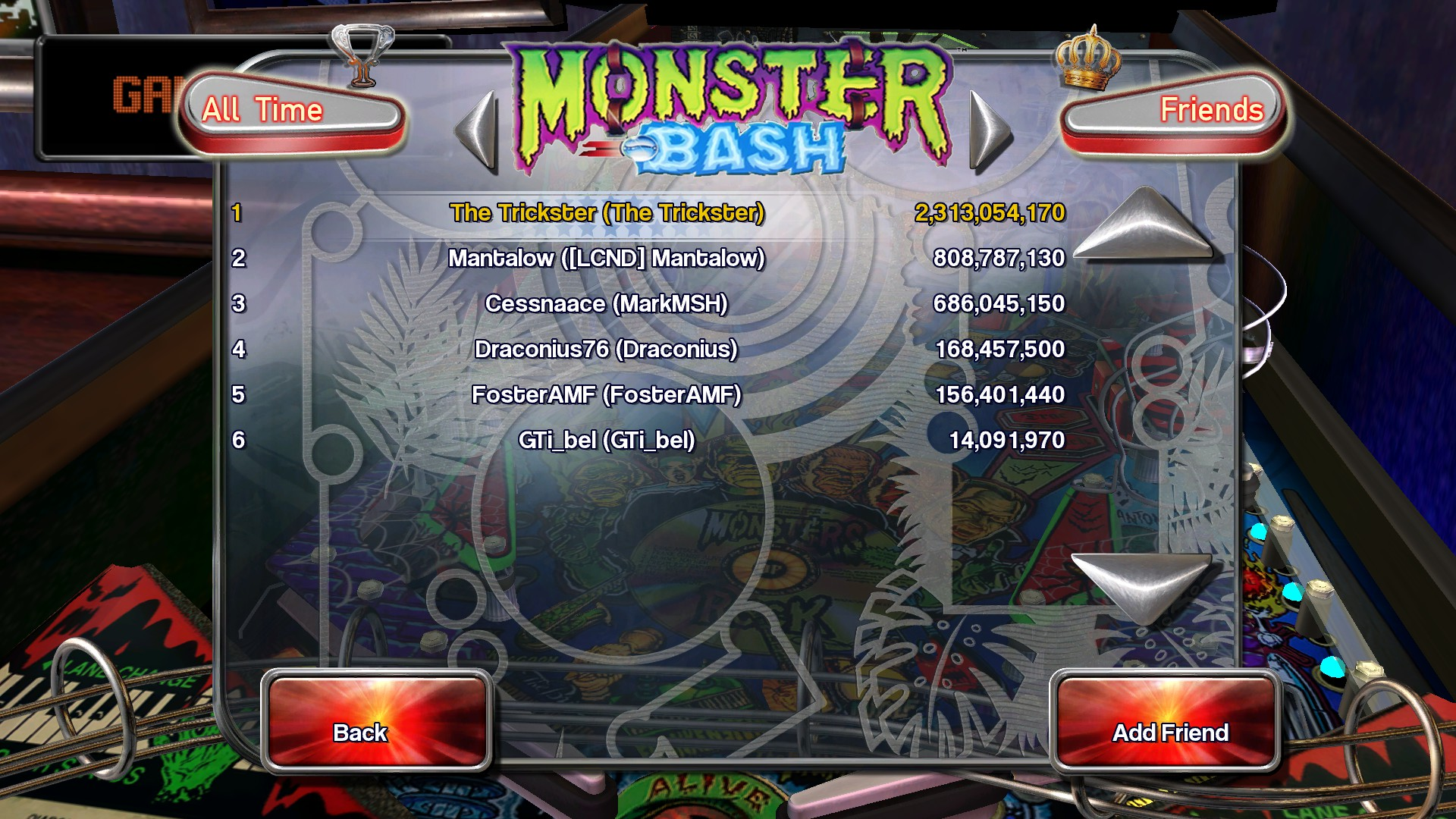 Pinball Arcade: Monster Bash 2,313,054,170 points