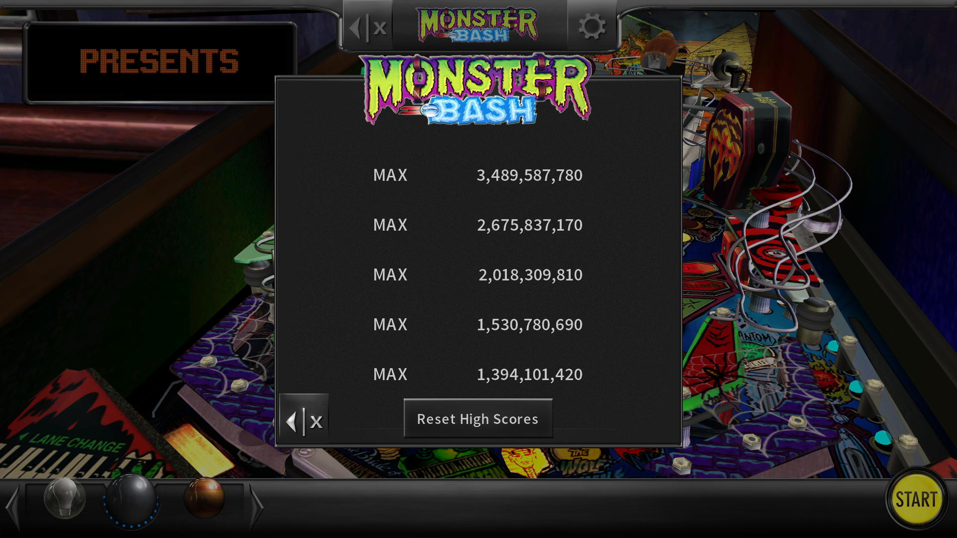 maxgreat: Pinball Arcade: Monster Bash (PC) 3,489,587,780 points on 2018-03-01 04:29:25