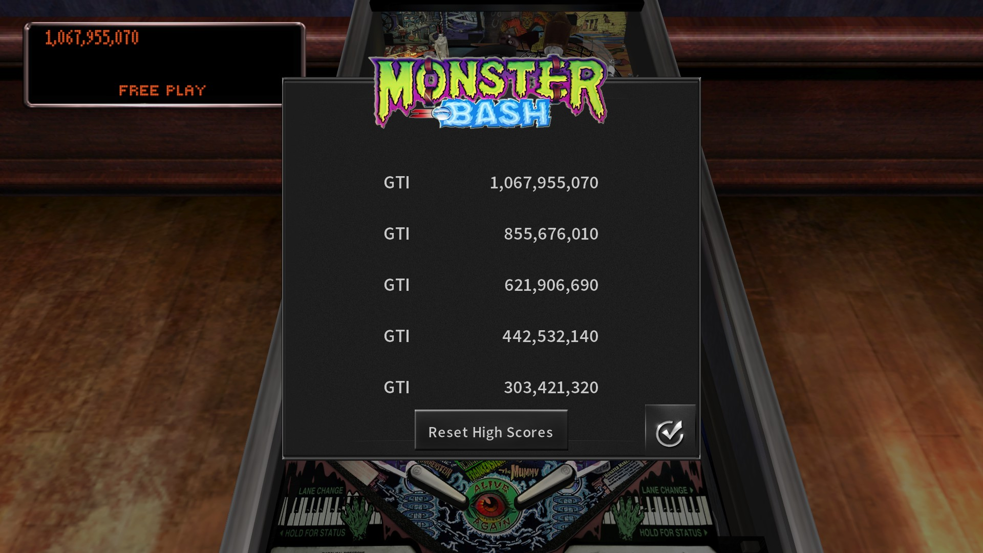 GTibel: Pinball Arcade: Monster Bash (PC) 1,067,955,070 points on 2020-07-25 07:34:14