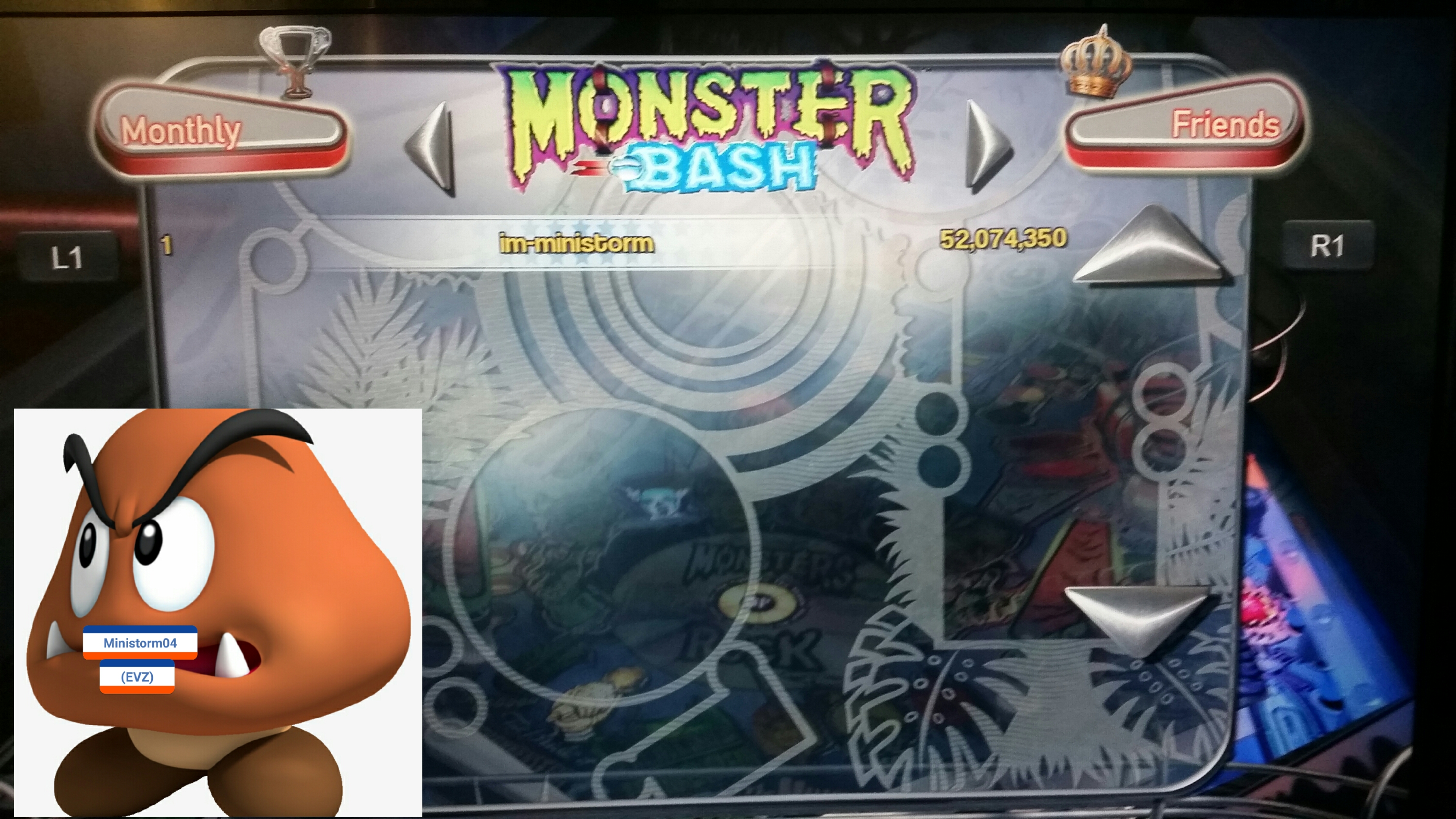 Pinball Arcade: Monster Bash 52,074,350 points