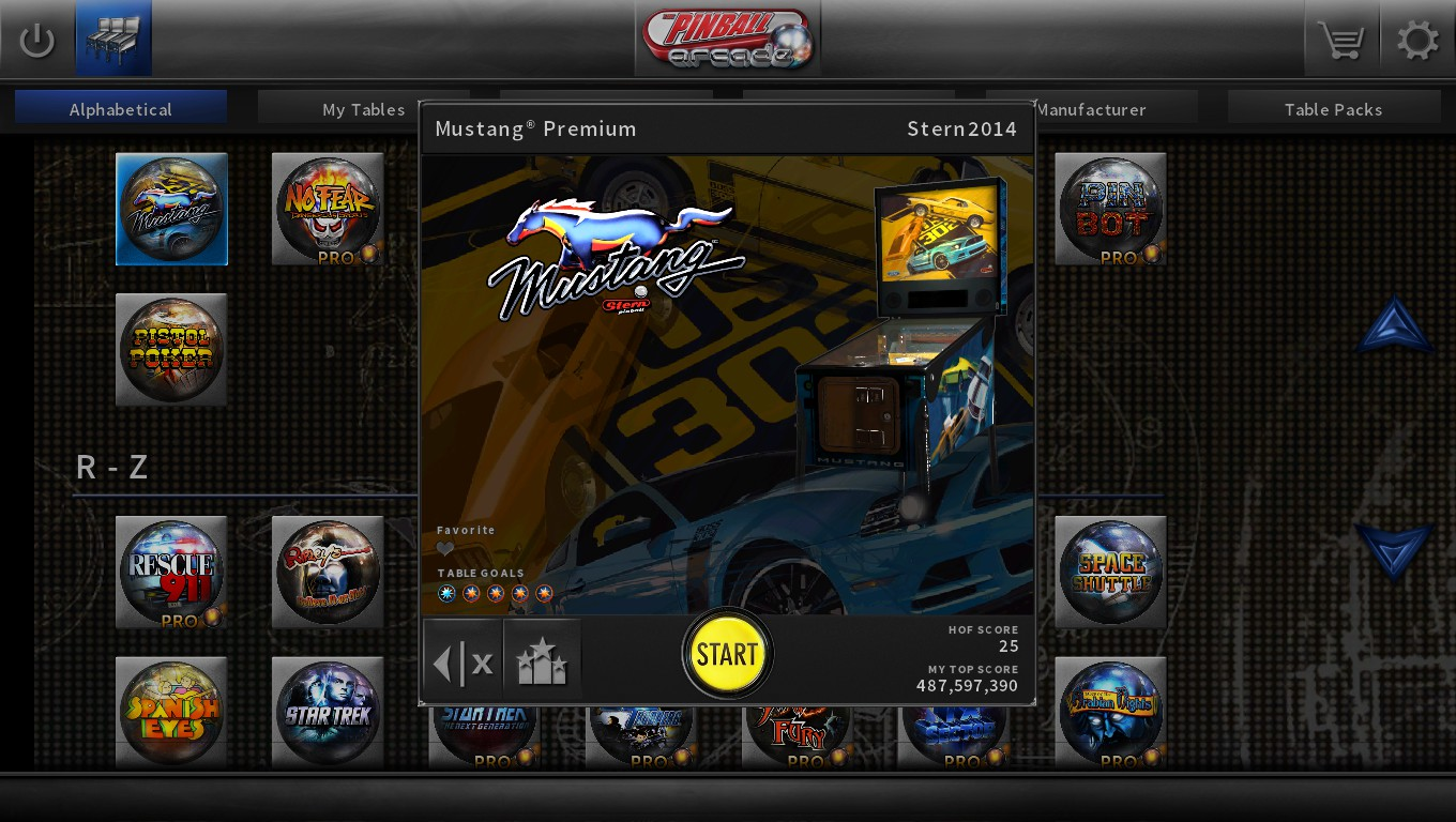 Mark: Pinball Arcade: Mustang (PC) 219,250,070 points on 2018-09-12 00:57:21