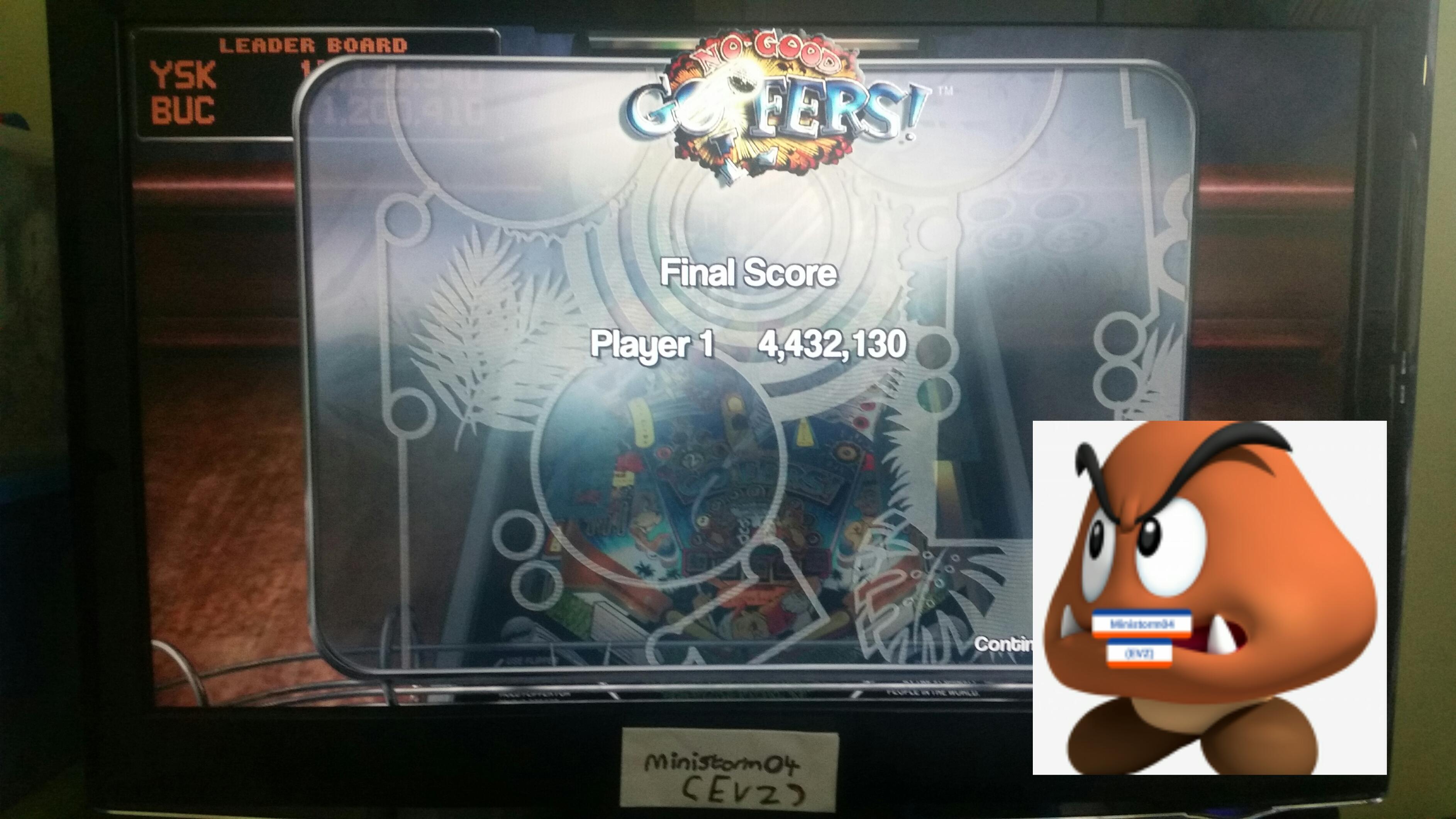 Pinball Arcade: No Good Goofers 4,432,130 points