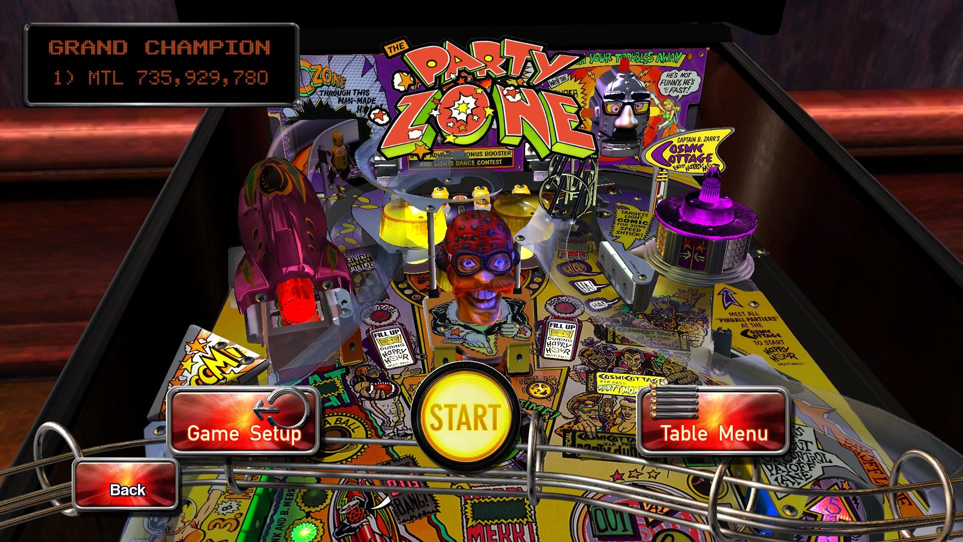 Mantalow: Pinball Arcade: Party Zone (PC) 735,929,780 points on 2016-05-17 11:41:38