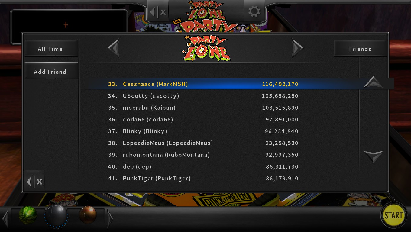 Mark: Pinball Arcade: Party Zone (PC) 116,492,170 points on 2018-05-15 01:23:16