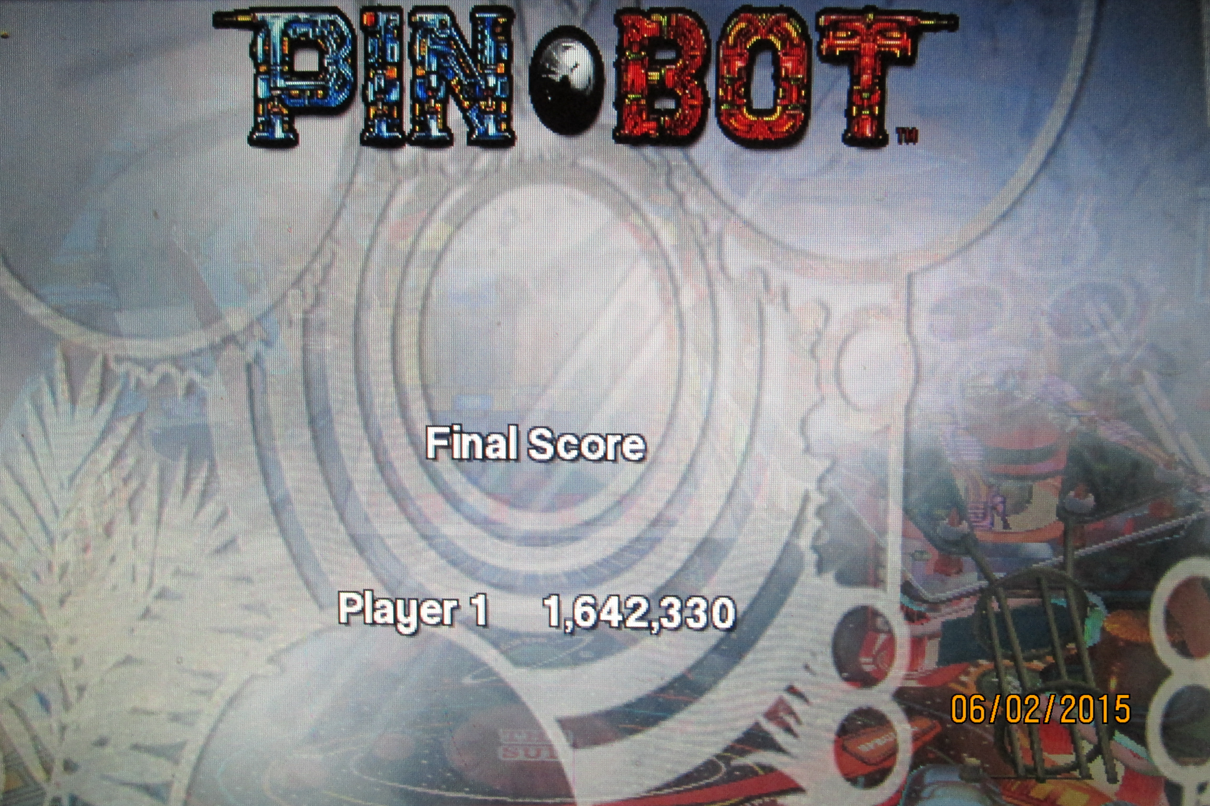 Mark: Pinball Arcade: Pin*Bot (PC) 1,642,330 points on 2015-06-26 23:44:17