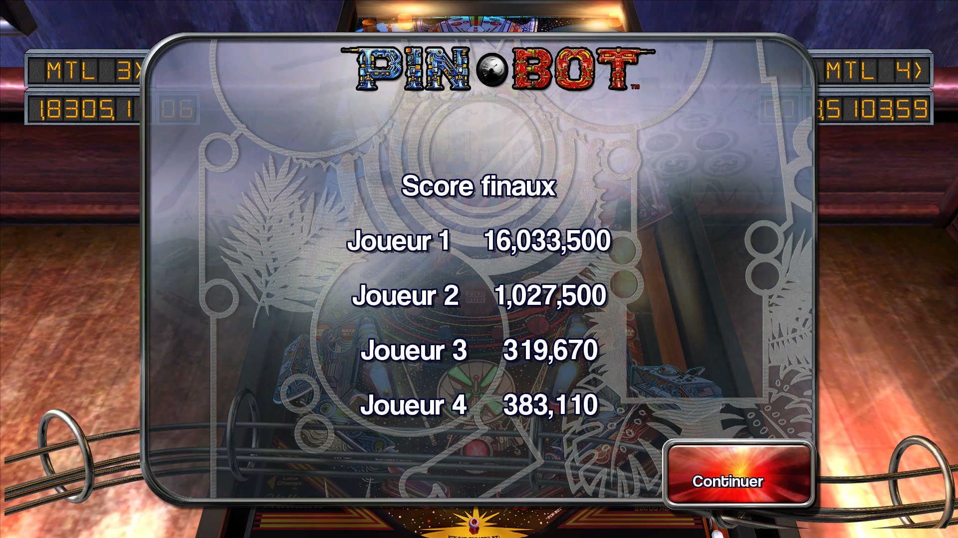 Mantalow: Pinball Arcade: Pin*Bot (PC) 16,033,500 points on 2015-08-24 04:19:05