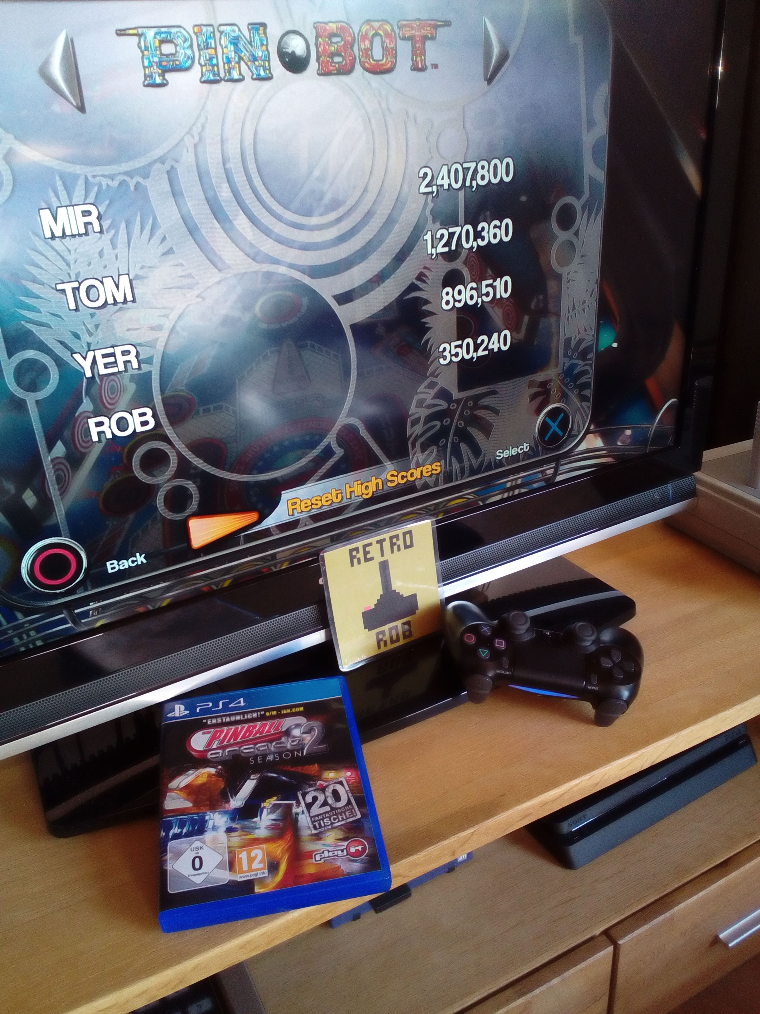 RetroRob: Pinball Arcade: Pin*Bot (Playstation 4) 350,240 points on 2020-05-05 12:25:33