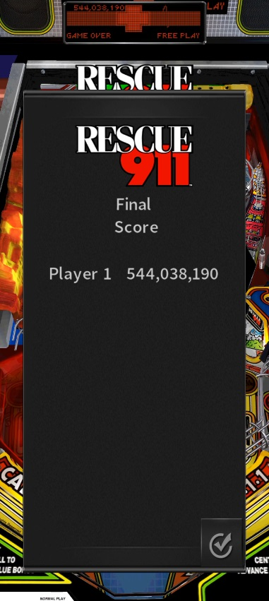 LuigiRuffolo: Pinball Arcade: Rescue 911 (Android) 544,038,190 points on 2020-12-25 03:35:03