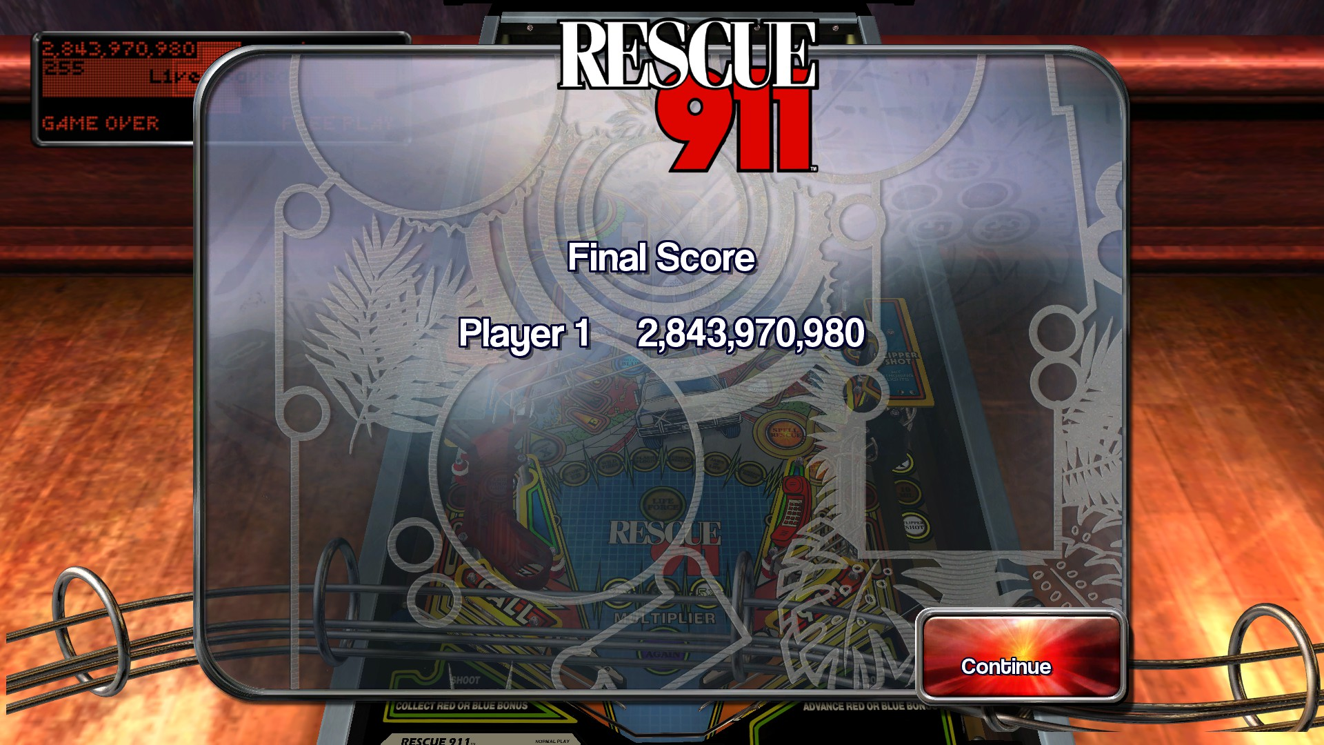 TheTrickster: Pinball Arcade: Rescue 911 (PC) 2,843,970,980 points on 2016-03-27 06:21:28