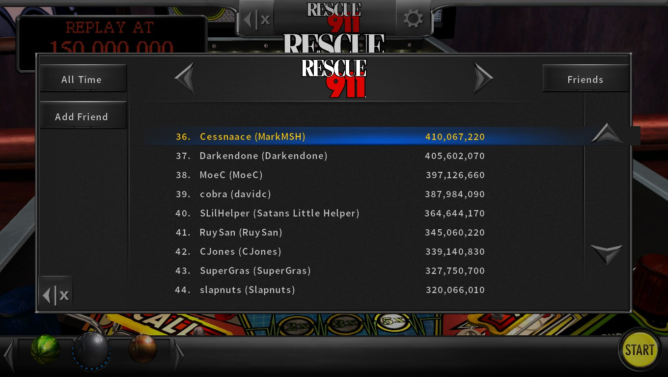 Mark: Pinball Arcade: Rescue 911 (PC) 410,067,220 points on 2018-05-15 01:34:52