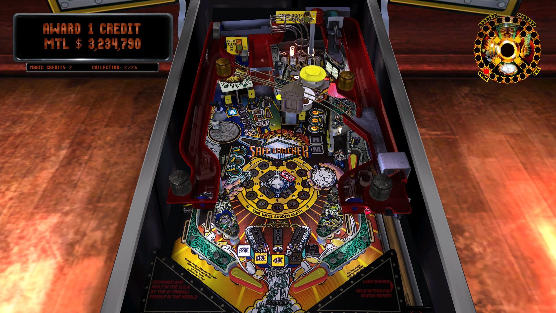 Mantalow: Pinball Arcade: Safe Cracker (PC) 3,234,790 points on 2015-09-04 01:25:59