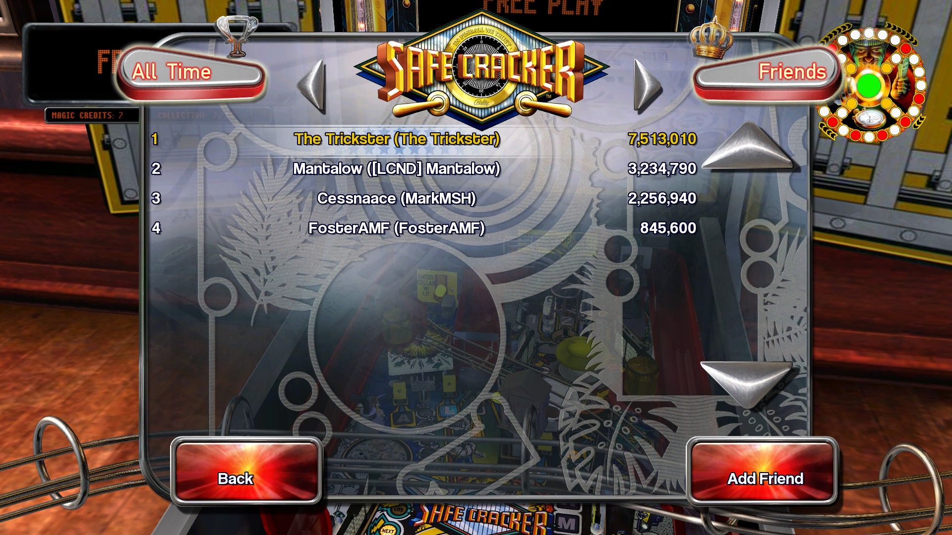 TheTrickster: Pinball Arcade: Safe Cracker (PC) 7,513,010 points on 2015-11-30 07:03:21