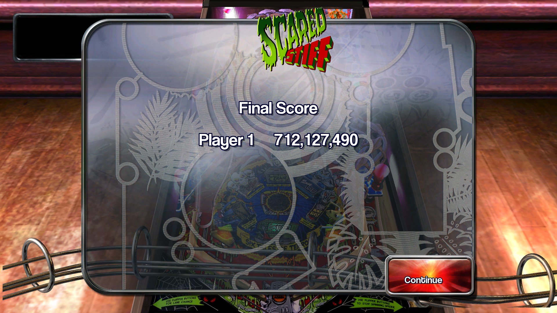 TheTrickster: Pinball Arcade: Scared Stiff (PC) 712,127,490 points on 2015-11-27 04:19:35