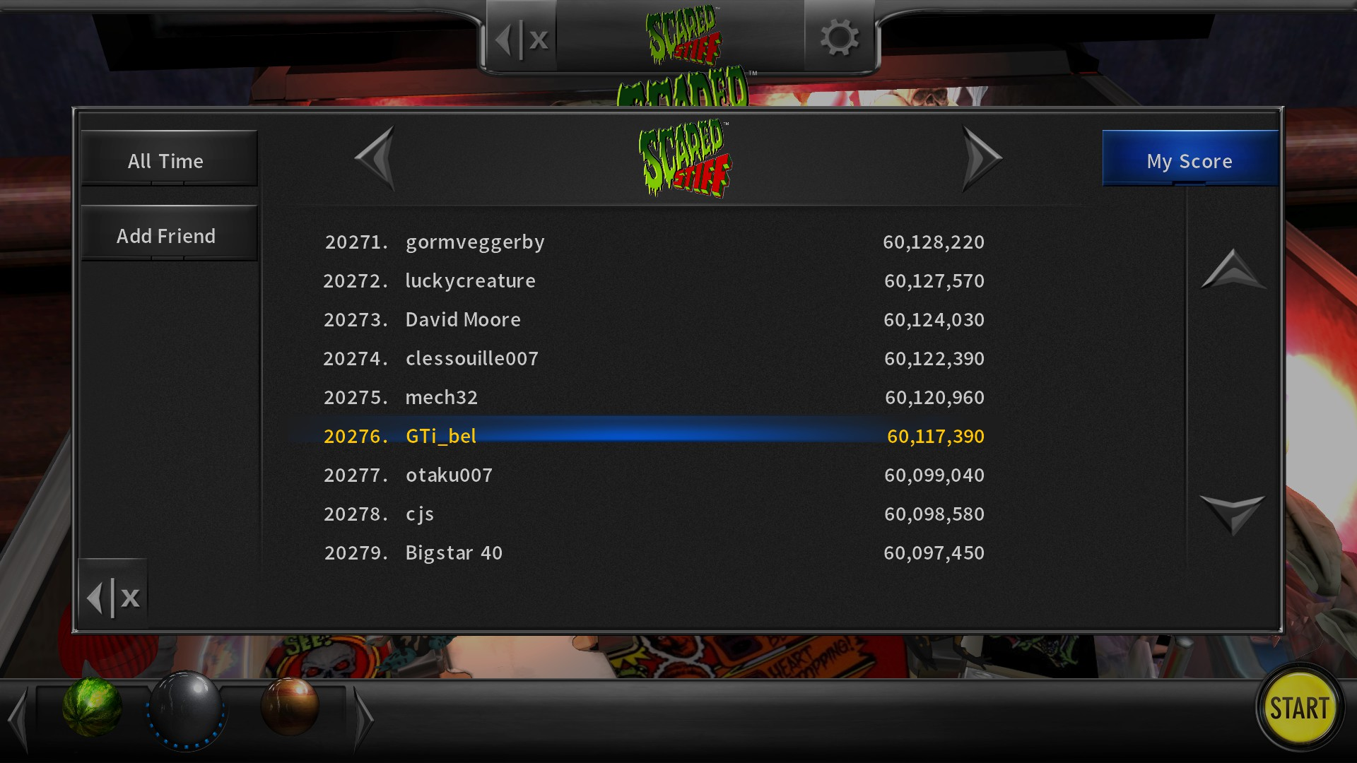GTibel: Pinball Arcade: Scared Stiff (PC) 60,117,390 points on 2020-07-23 07:38:55
