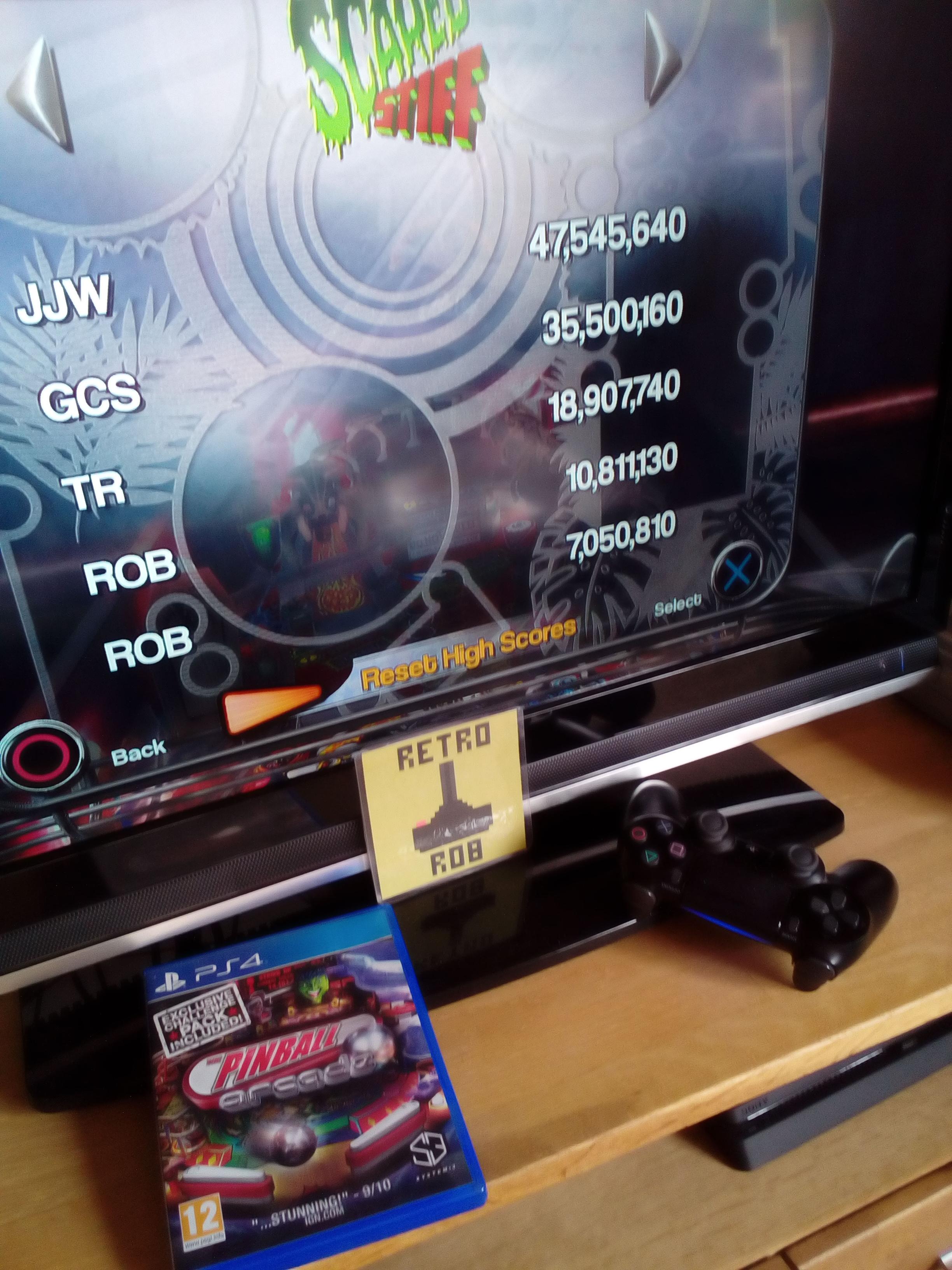 RetroRob: Pinball Arcade: Scared Stiff (Playstation 4) 10,811,130 points on 2020-10-11 11:20:37
