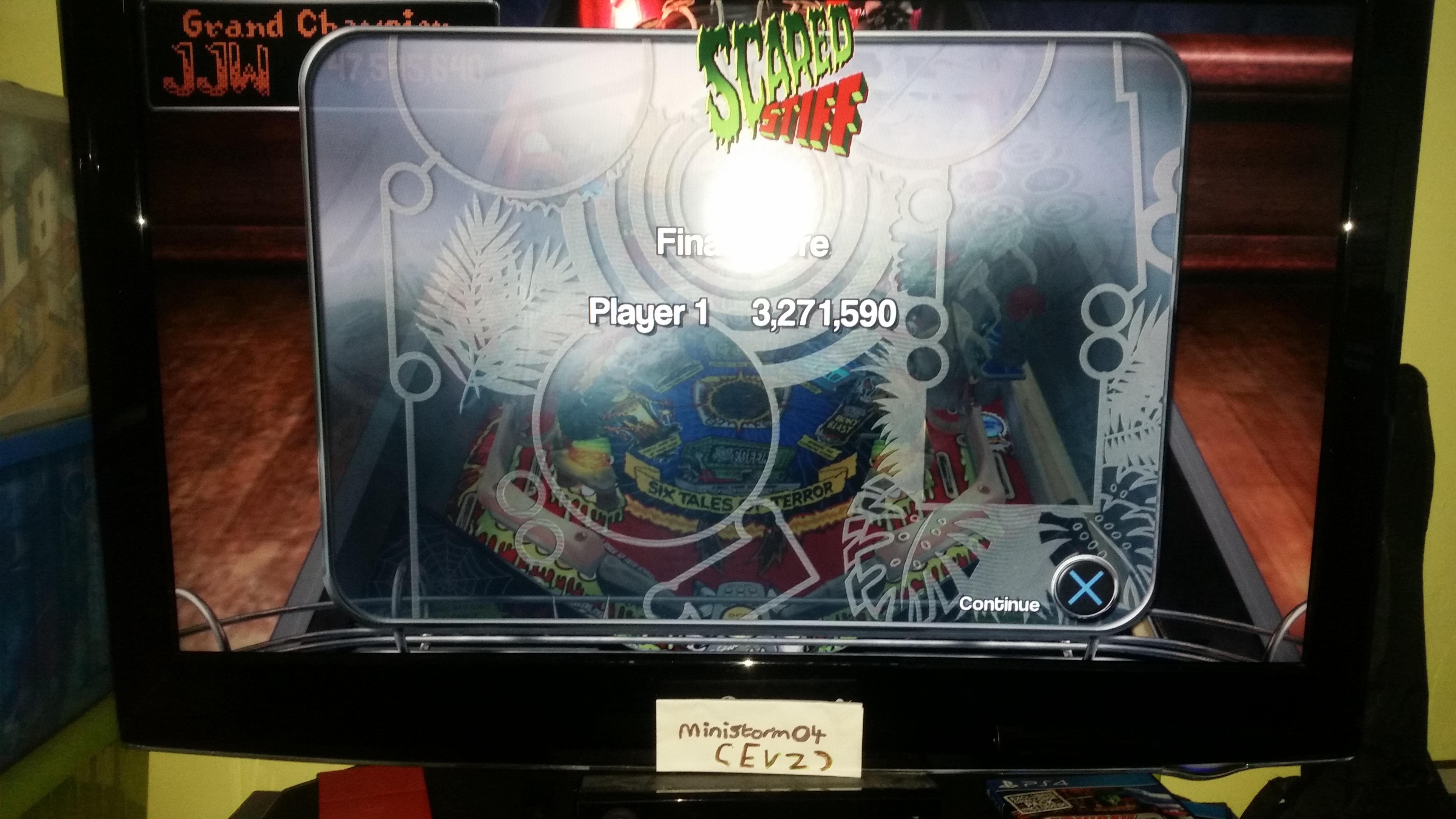 Pinball Arcade: Scared Stiff 3,271,590 points