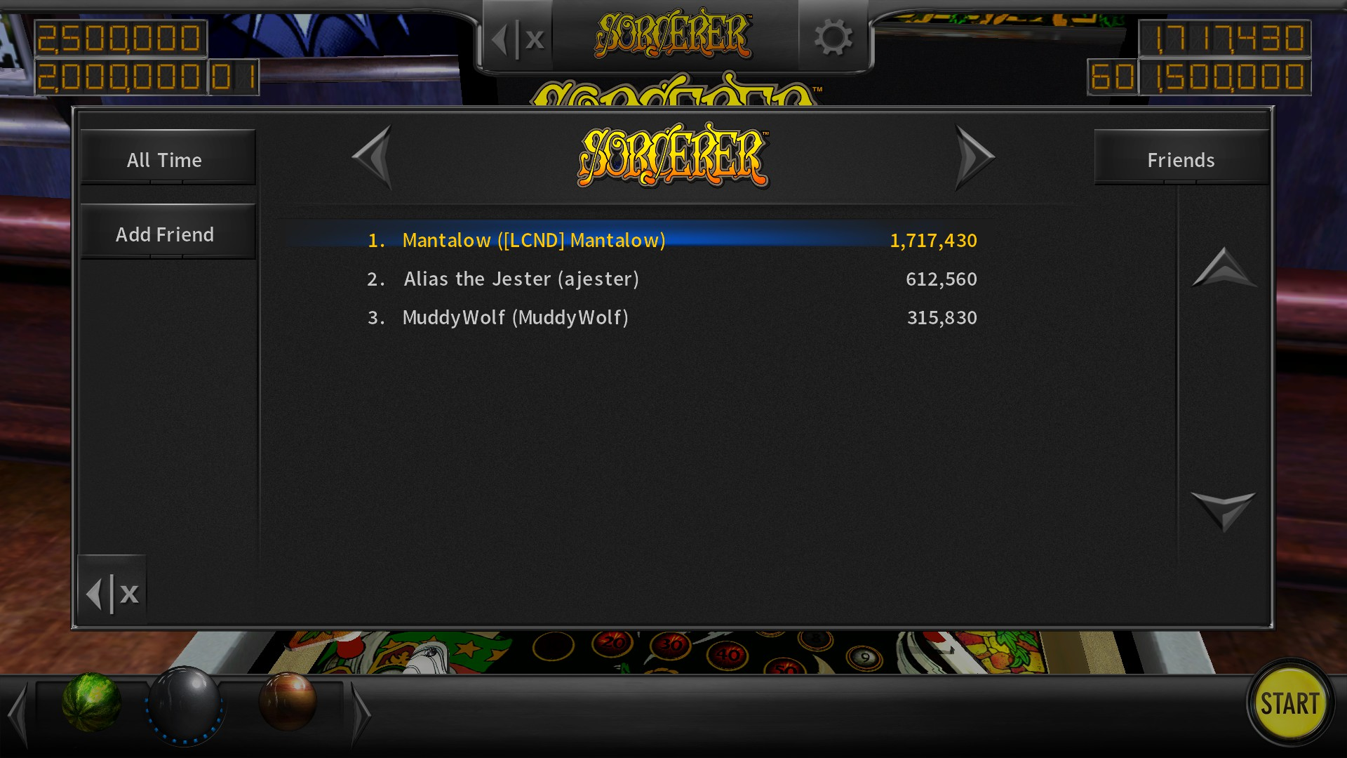 Mantalow: Pinball Arcade: Sorcerer (PC) 1,717,430 points on 2018-02-12 04:51:24
