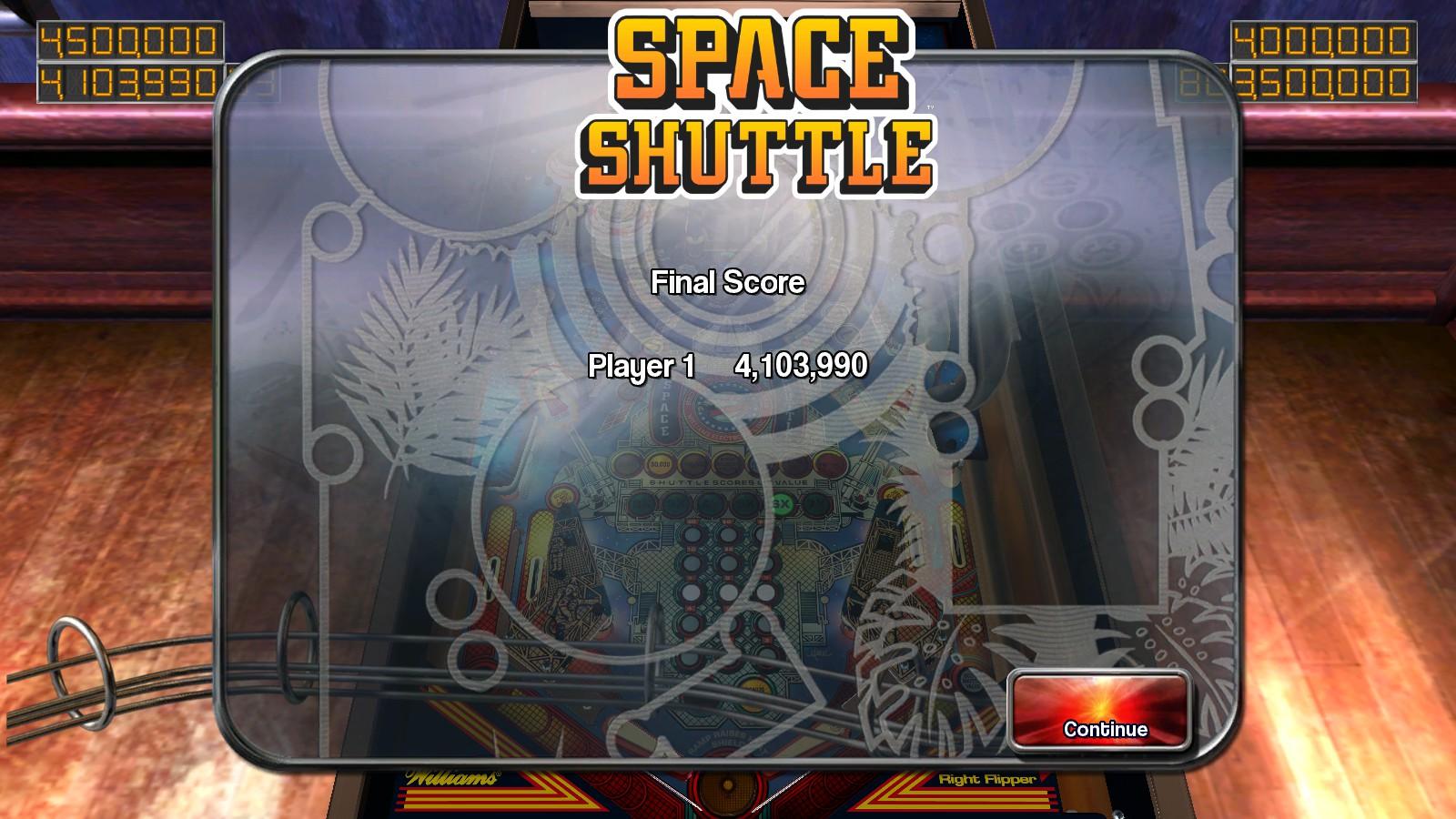 Deteacher: Pinball Arcade: Space Shuttle (PC) 4,103,990 points on 2015-08-23 07:35:58