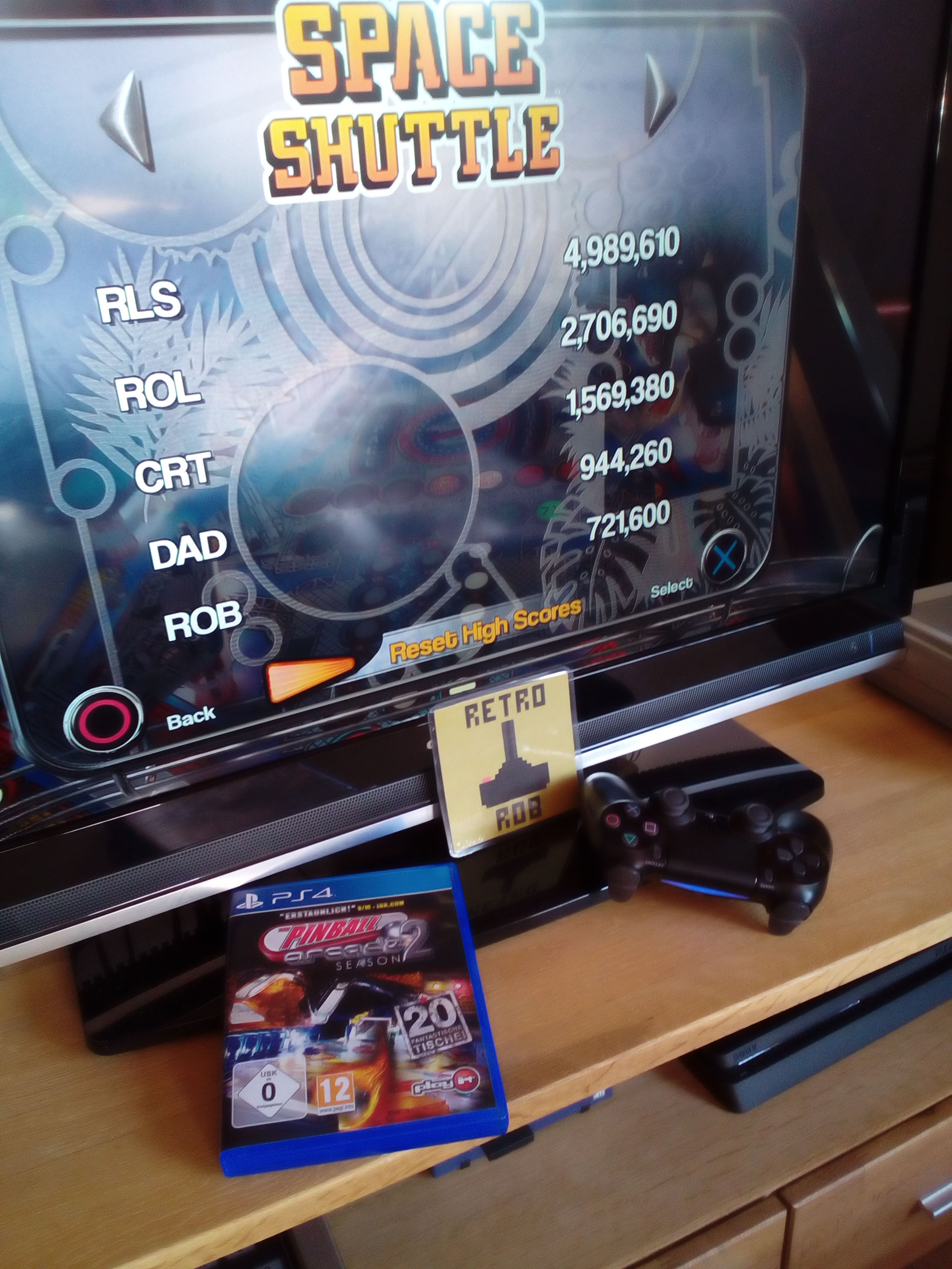 RetroRob: Pinball Arcade: Space Shuttle (Playstation 4) 721,600 points on 2020-05-05 12:27:35