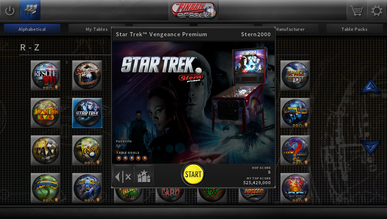 Pinball Arcade: Star Trek 363,662,460 points