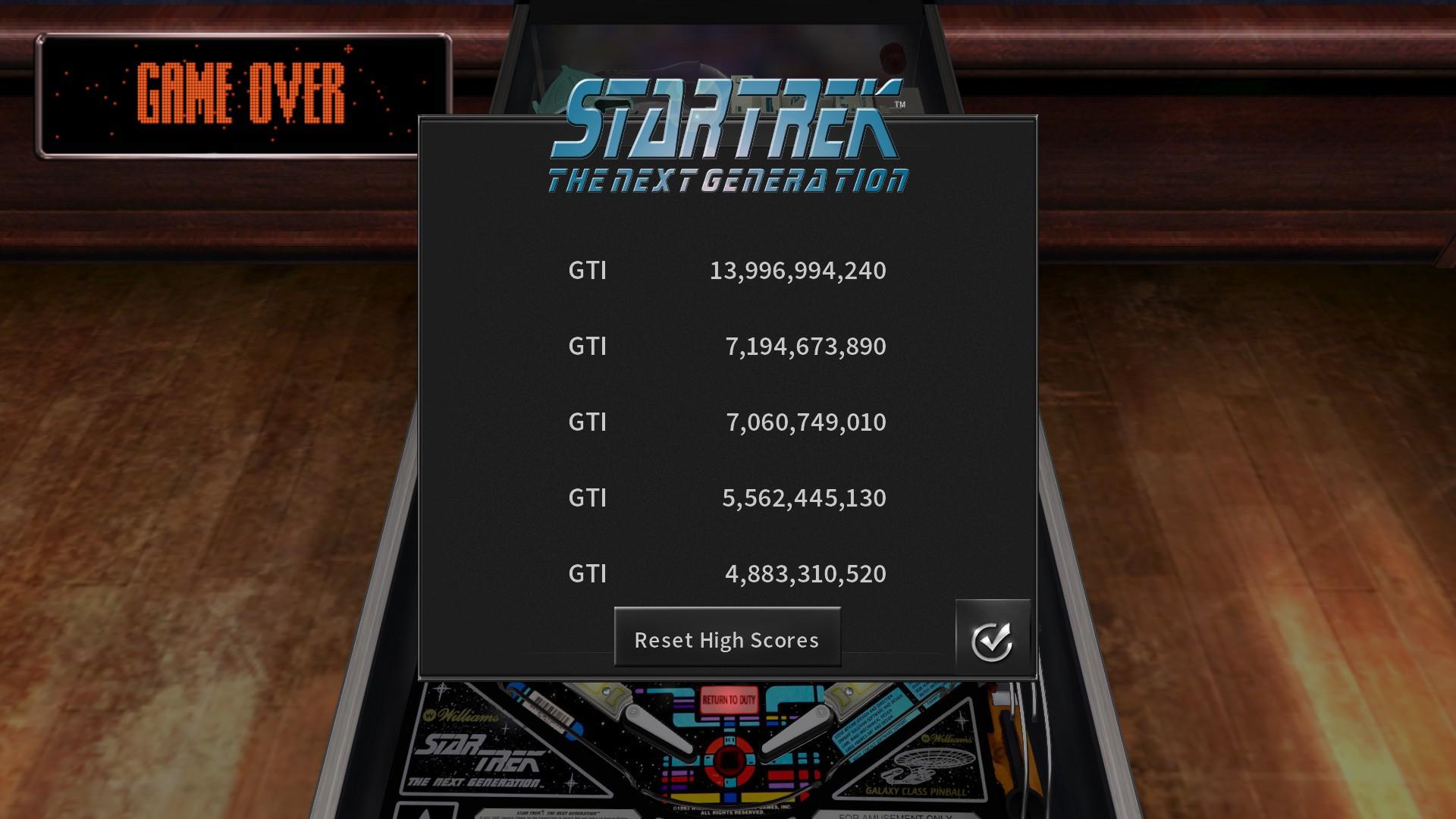 GTibel: Pinball Arcade: Star Trek: The Next Generation (PC) 13,996,994,240 points on 2020-07-22 10:07:47
