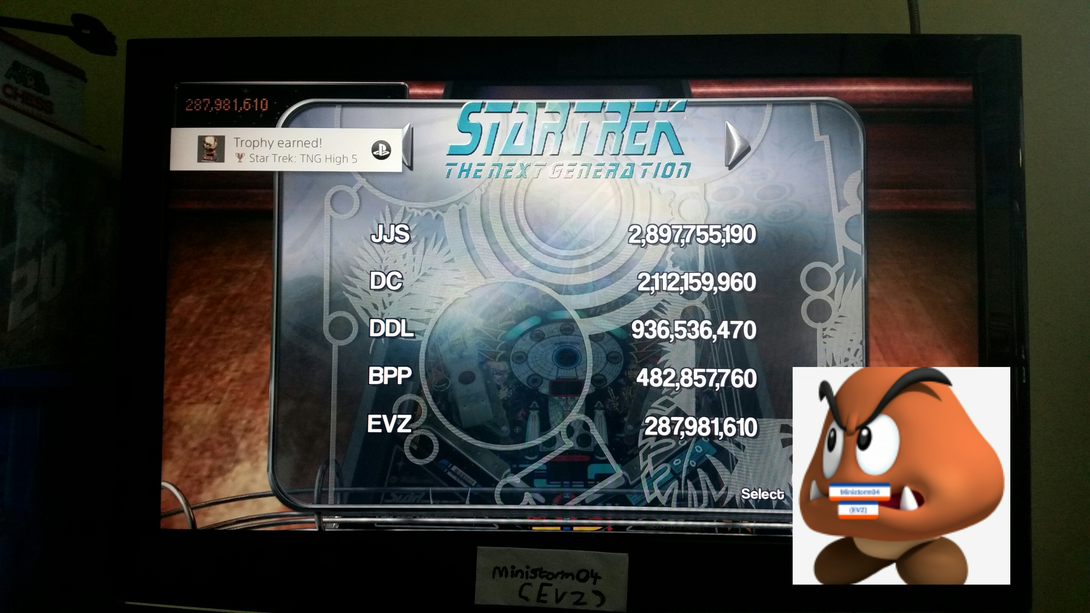 Pinball Arcade: Star Trek: The Next Generation 287,981,610 points