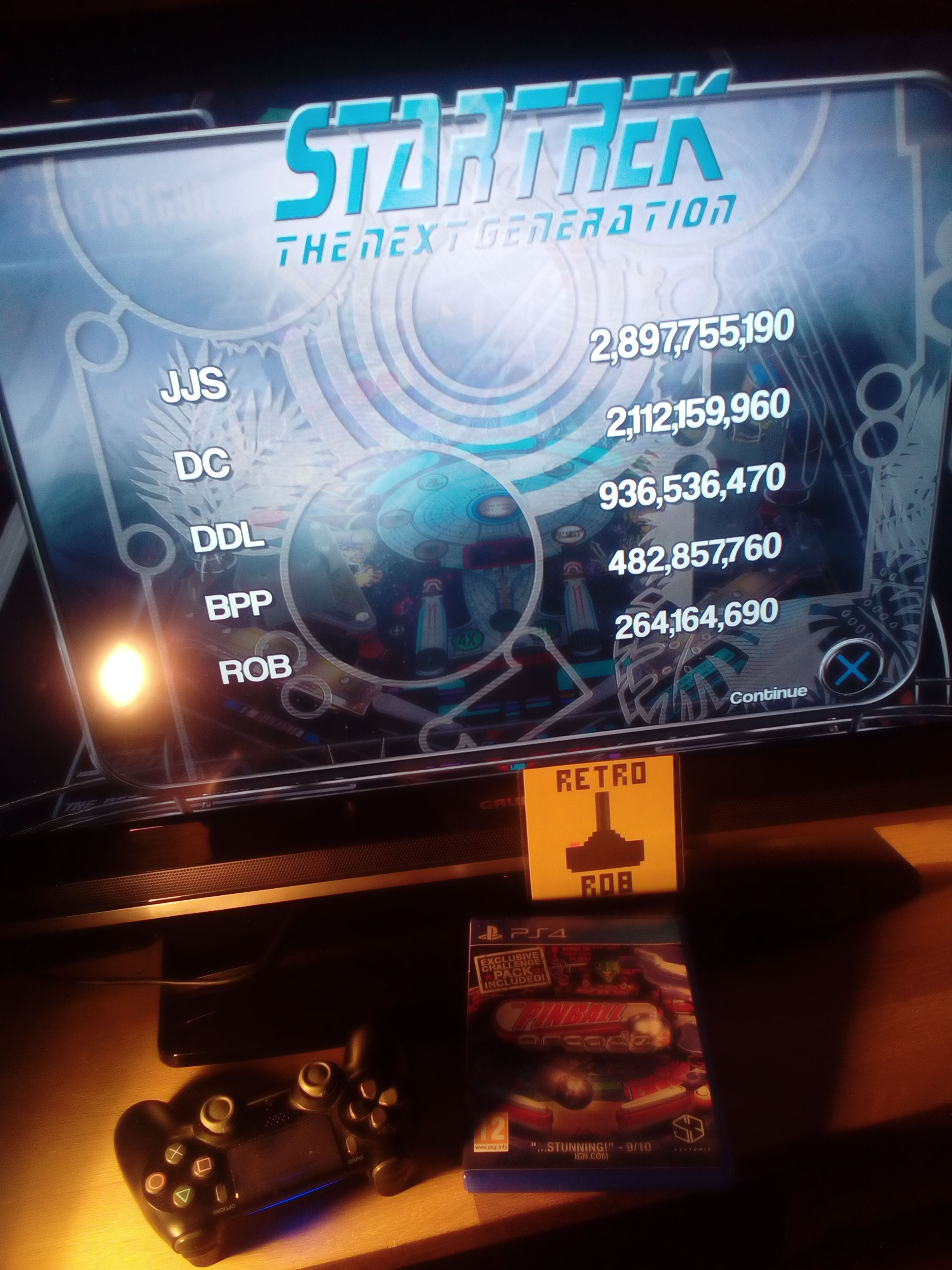 RetroRob: Pinball Arcade: Star Trek: The Next Generation (Playstation 4) 264,164,690 points on 2019-08-07 14:04:07